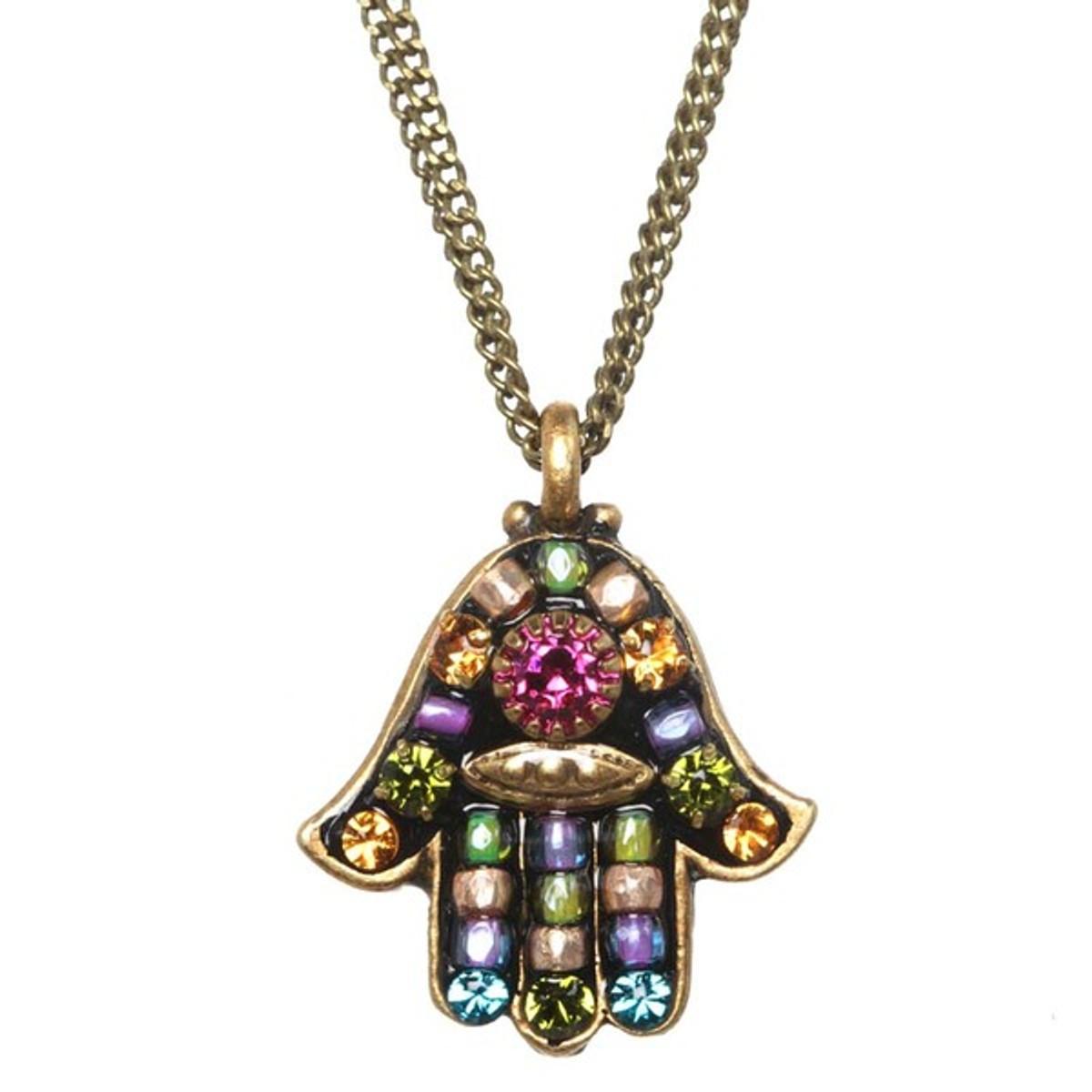 Evil Eye Hamsa Necklace From Michal Golan Jewelry
