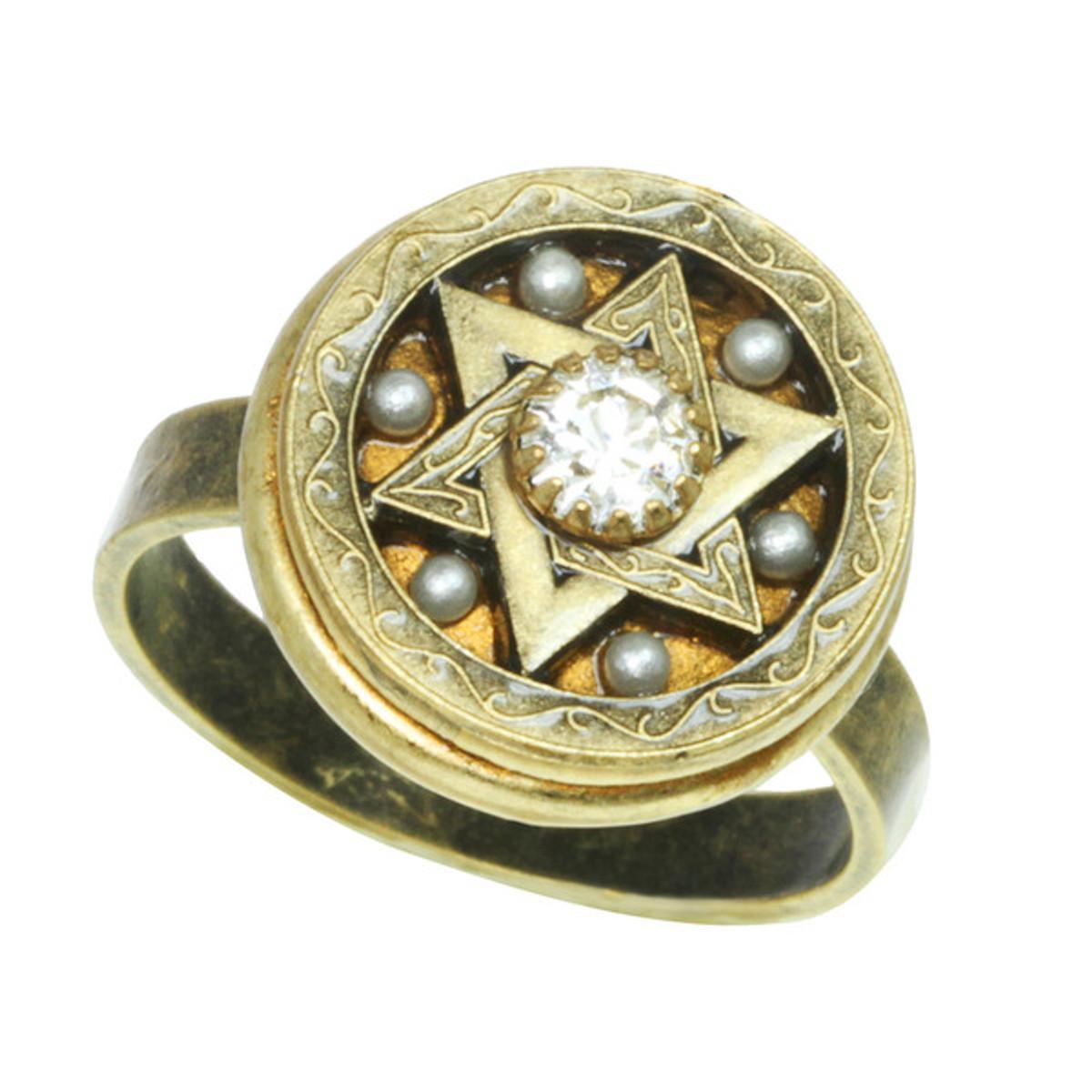 Gold And Crystal Star Of David