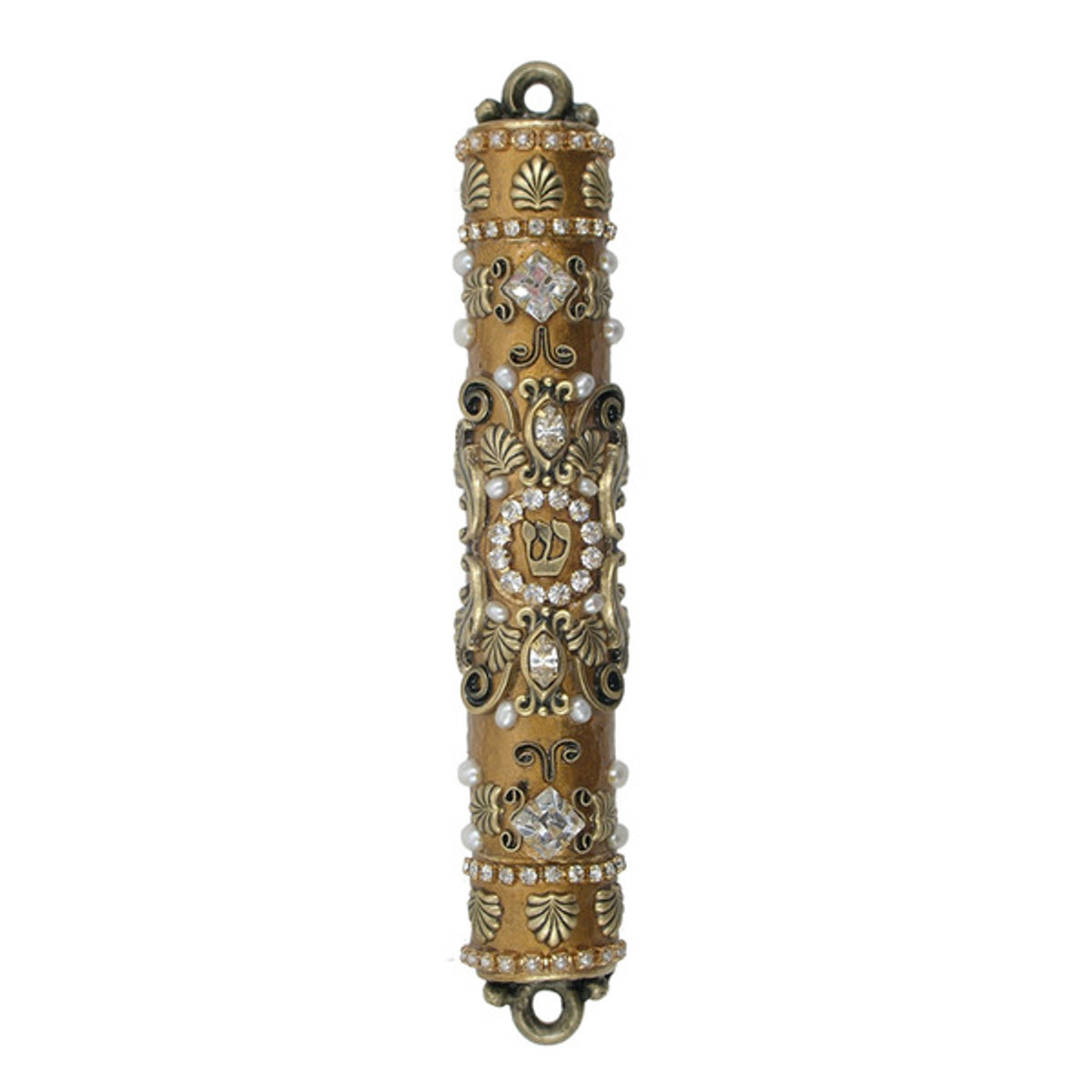 Gold, Pearl And Crystal Mezuzah