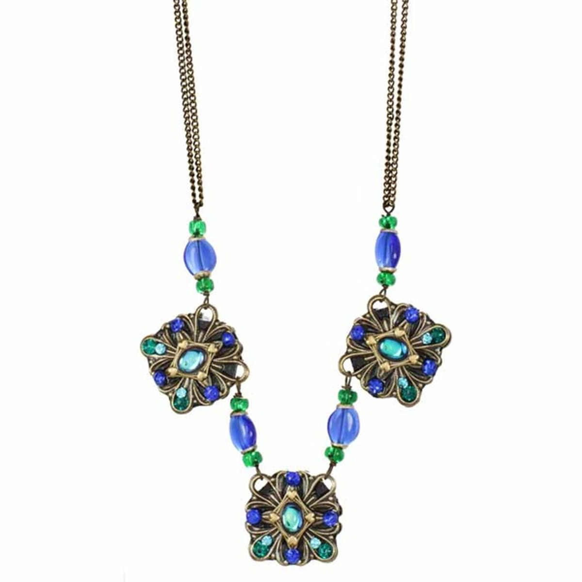 Peacock Necklace By Michal Golan - N3278