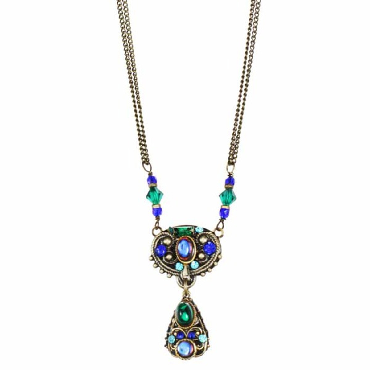 Peacock Necklace - Michal Golan Jewelry