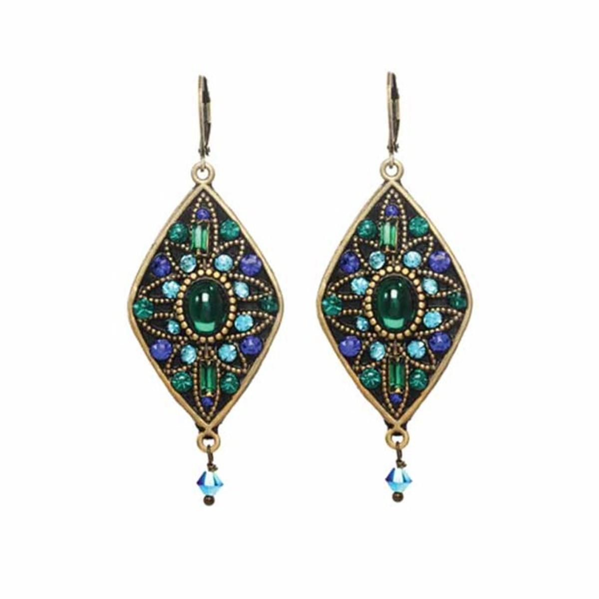 Lovely Peacock Earrings From Michal Golan