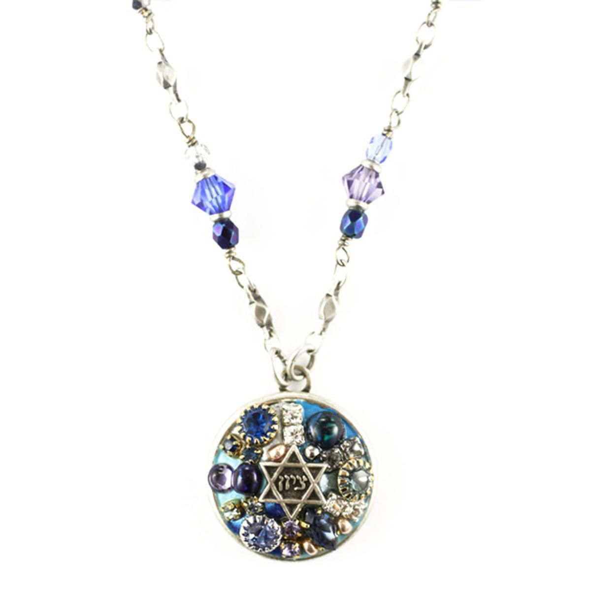 Michal Golan Round Pendant Necklace