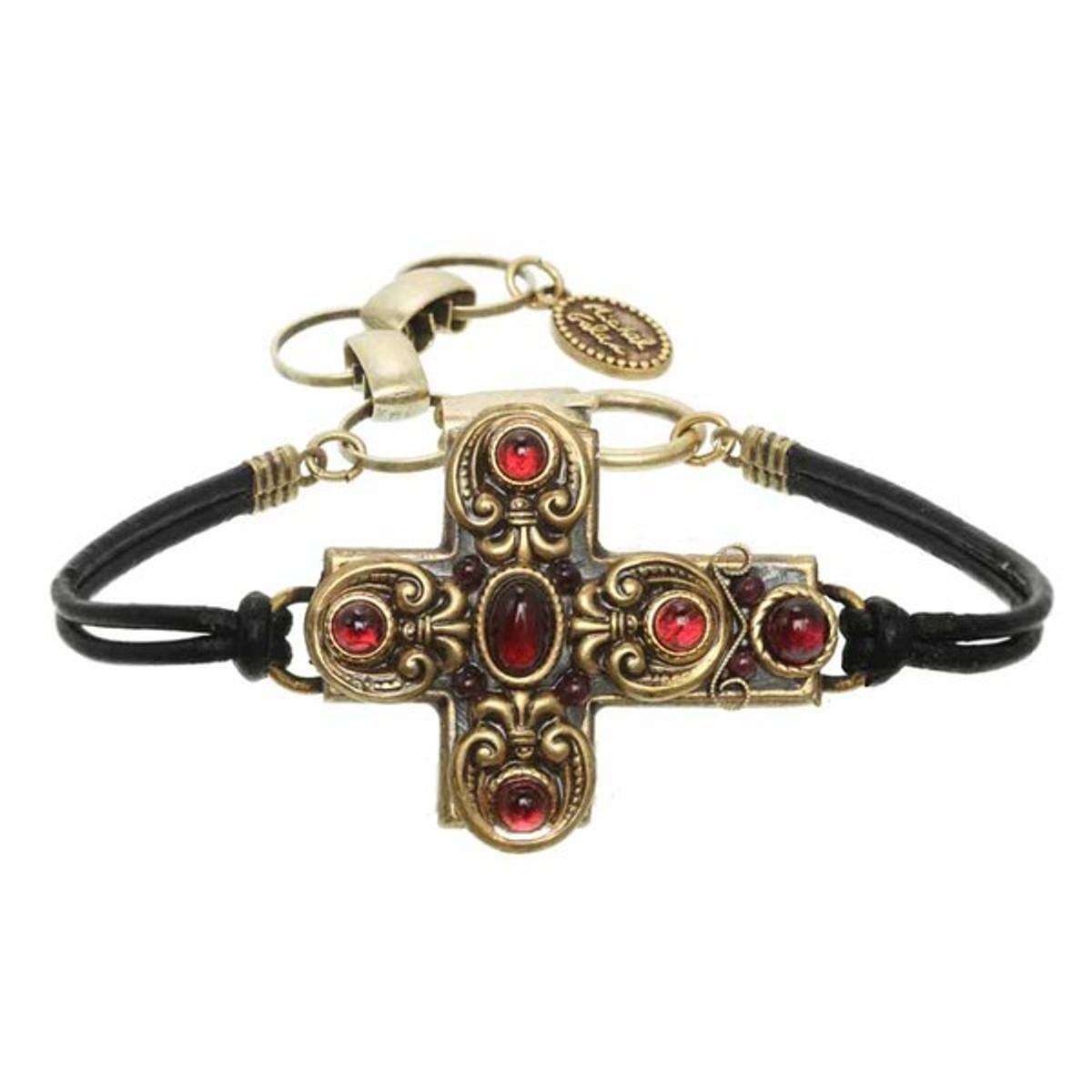 Michal Golan Red Cross Bracelet