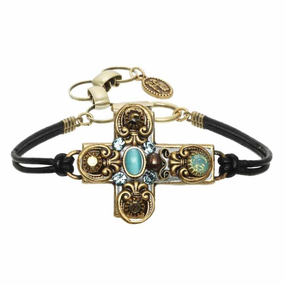 Michal Golan Blue Cross Bracelet