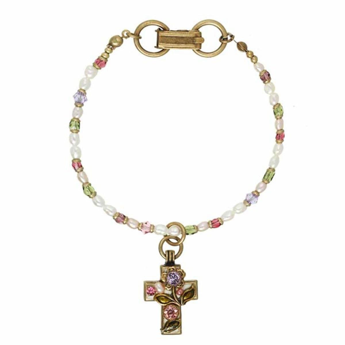 Michal Golan Swarovski Cross Bracelet