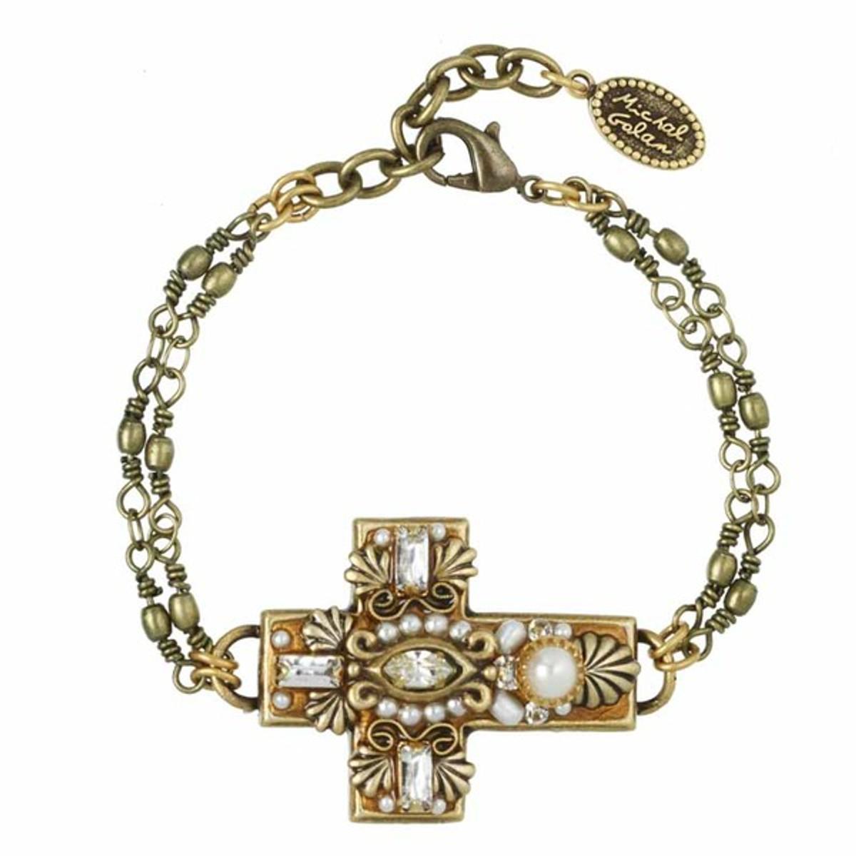Michal Golan Large White Cross Bracelet
