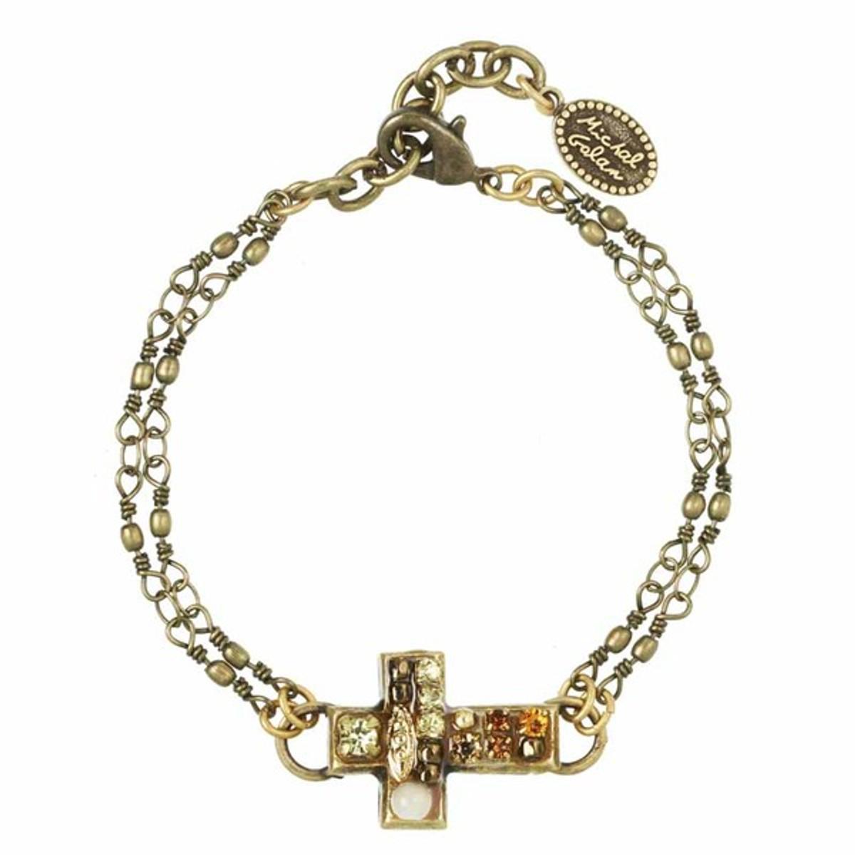 Michal Golan Jewelry Cross Bracelet