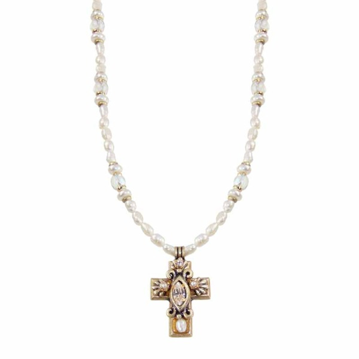 Michal Golan Small Gold Cross Necklace