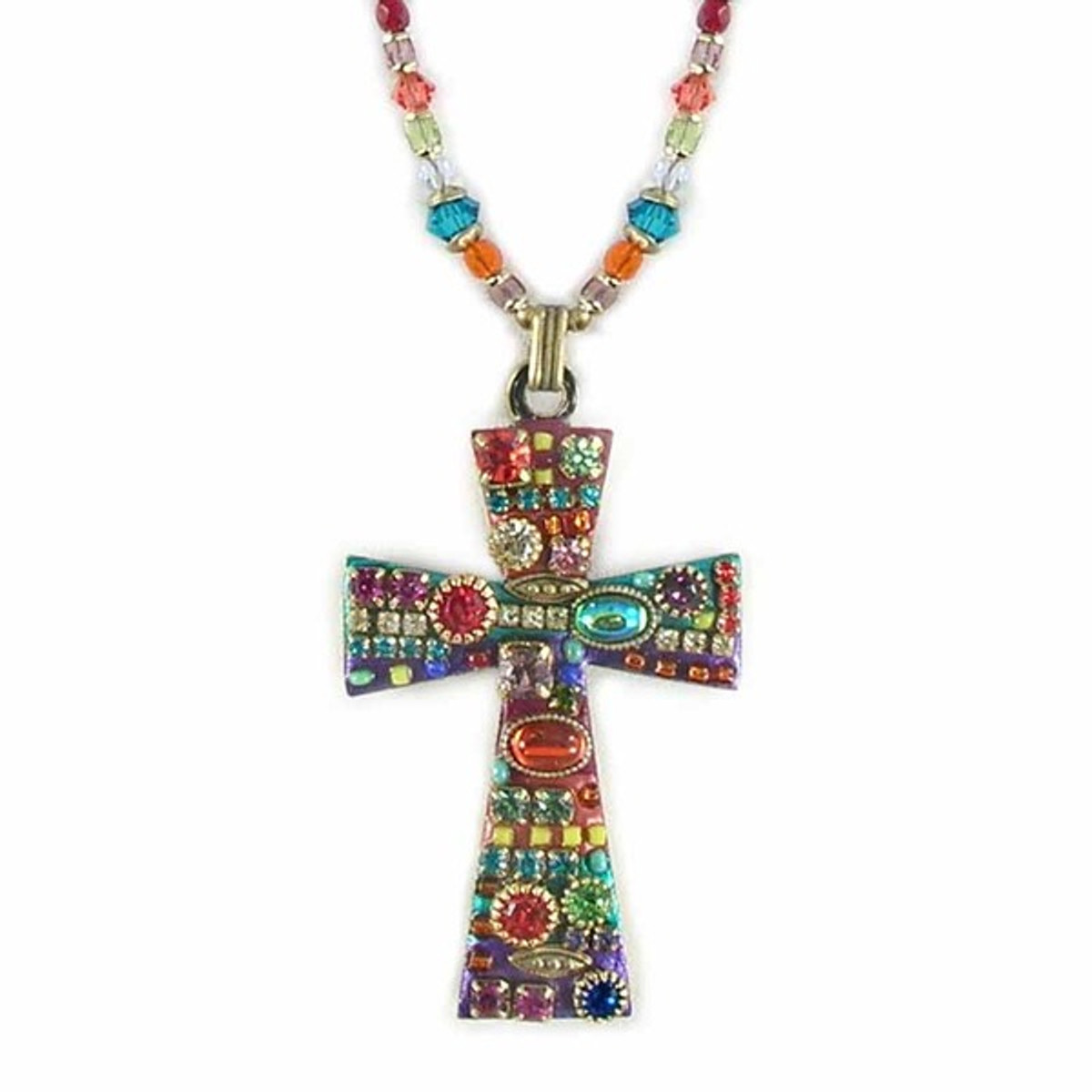 Michal Golan Multibright Cross Necklace