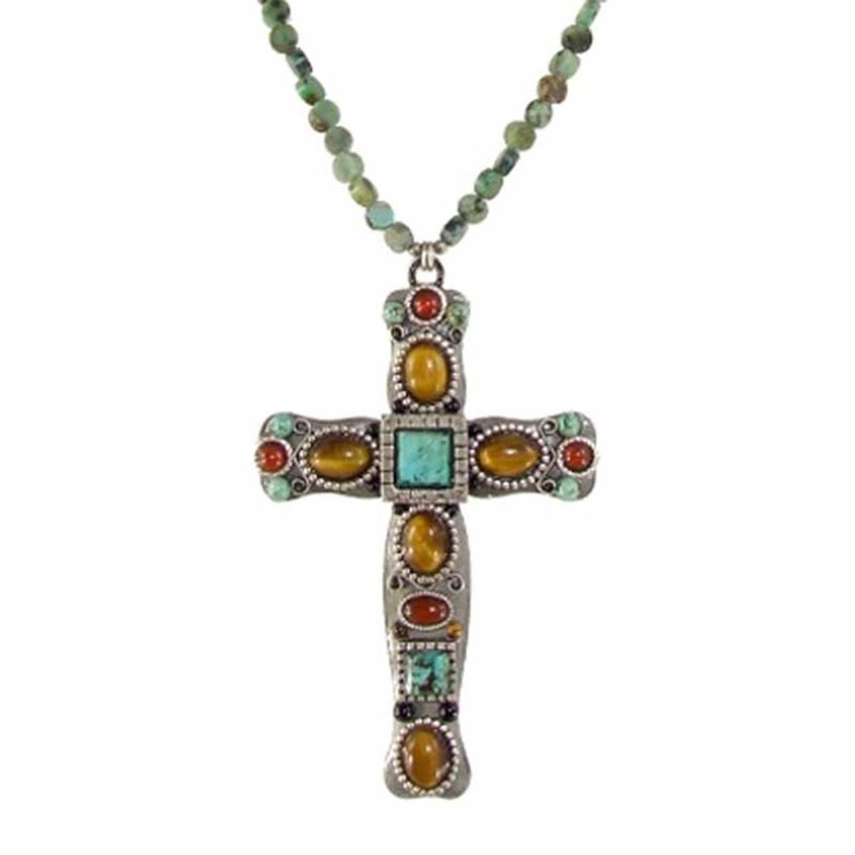 Large Michal Golan Cross Necklace