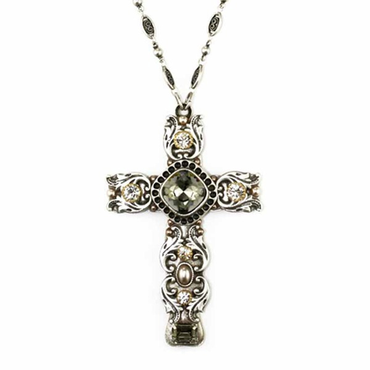 Michal Golan Crystal Cross Necklace