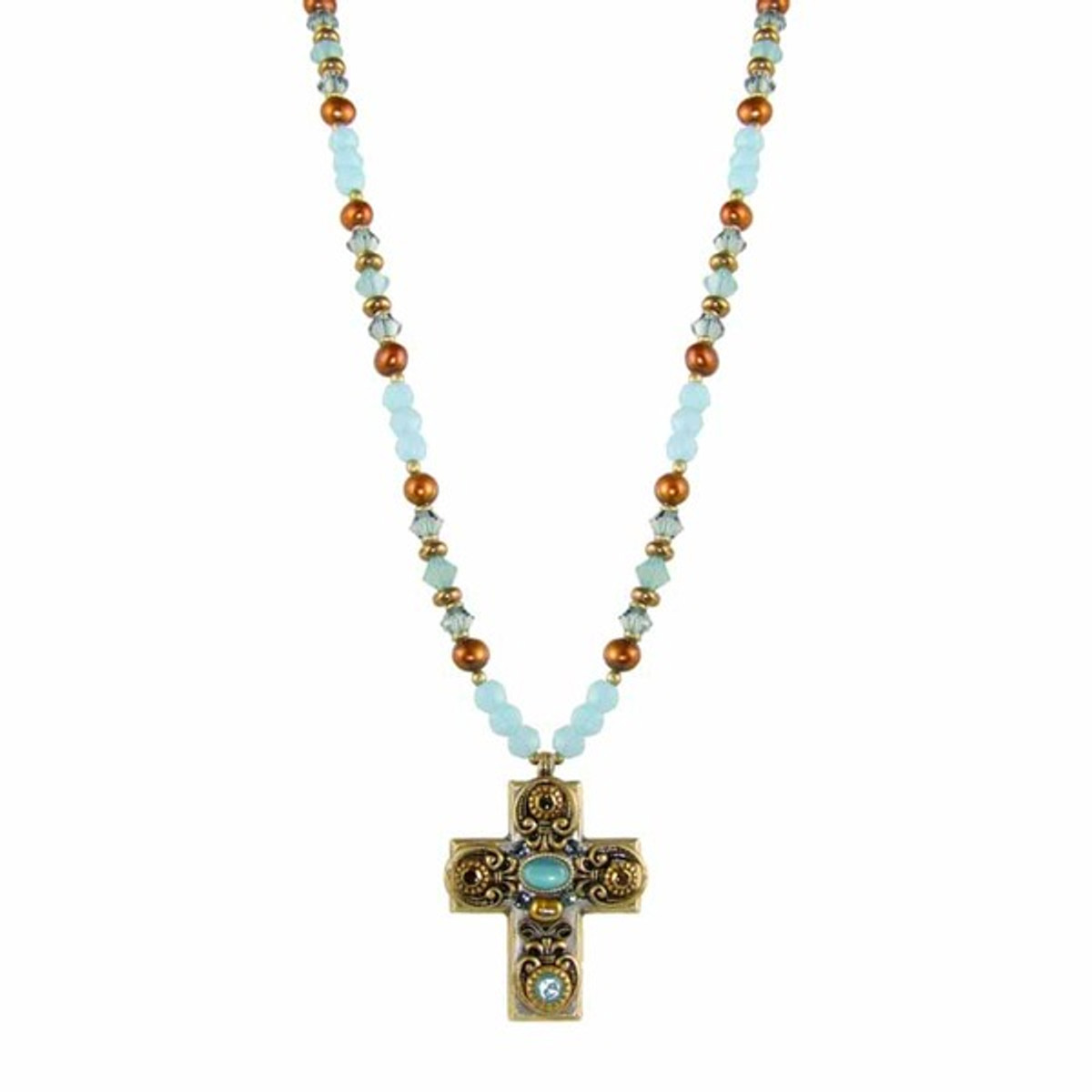 Michal Golan Studded Cross Necklace