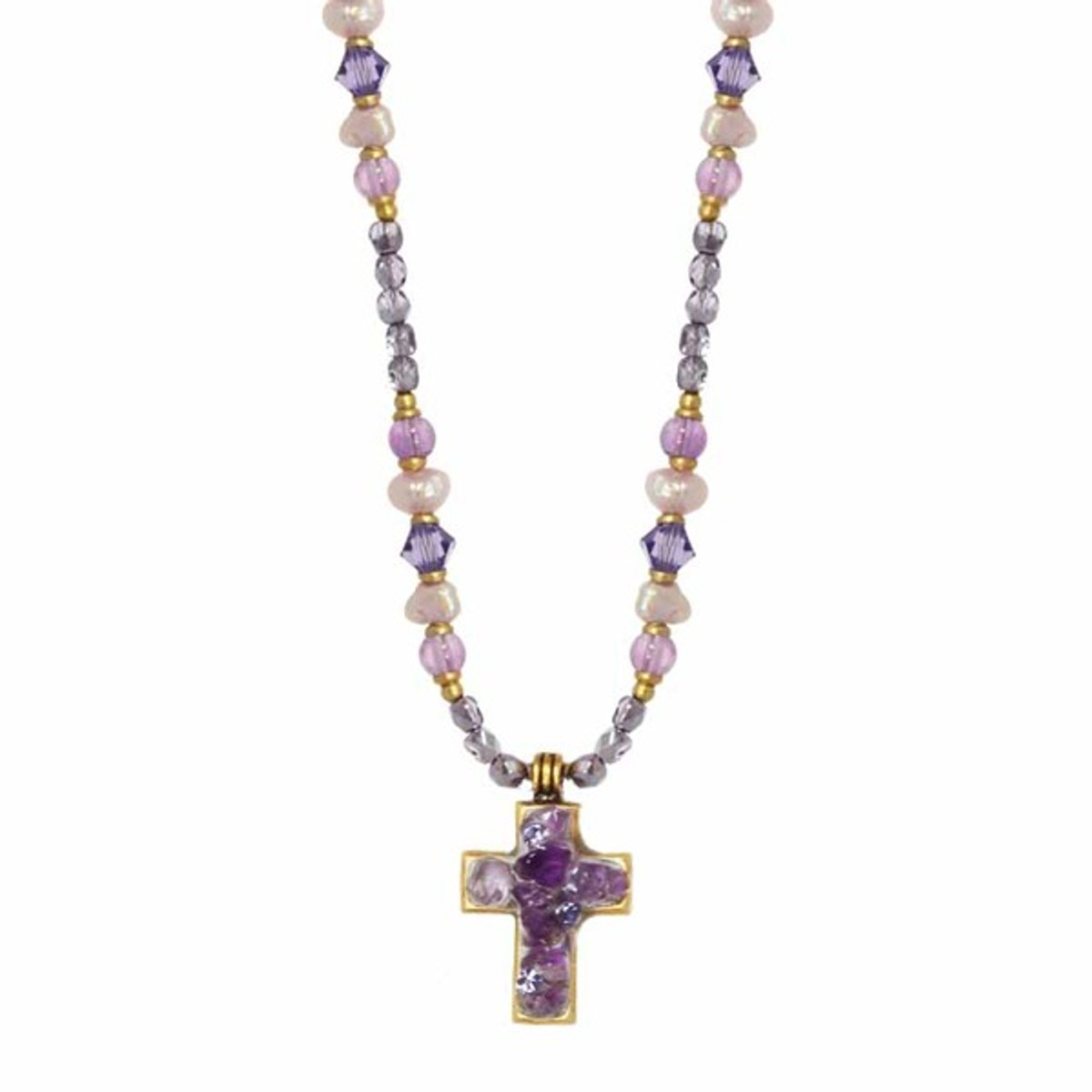 Michal Golan Cross Beaded Necklace