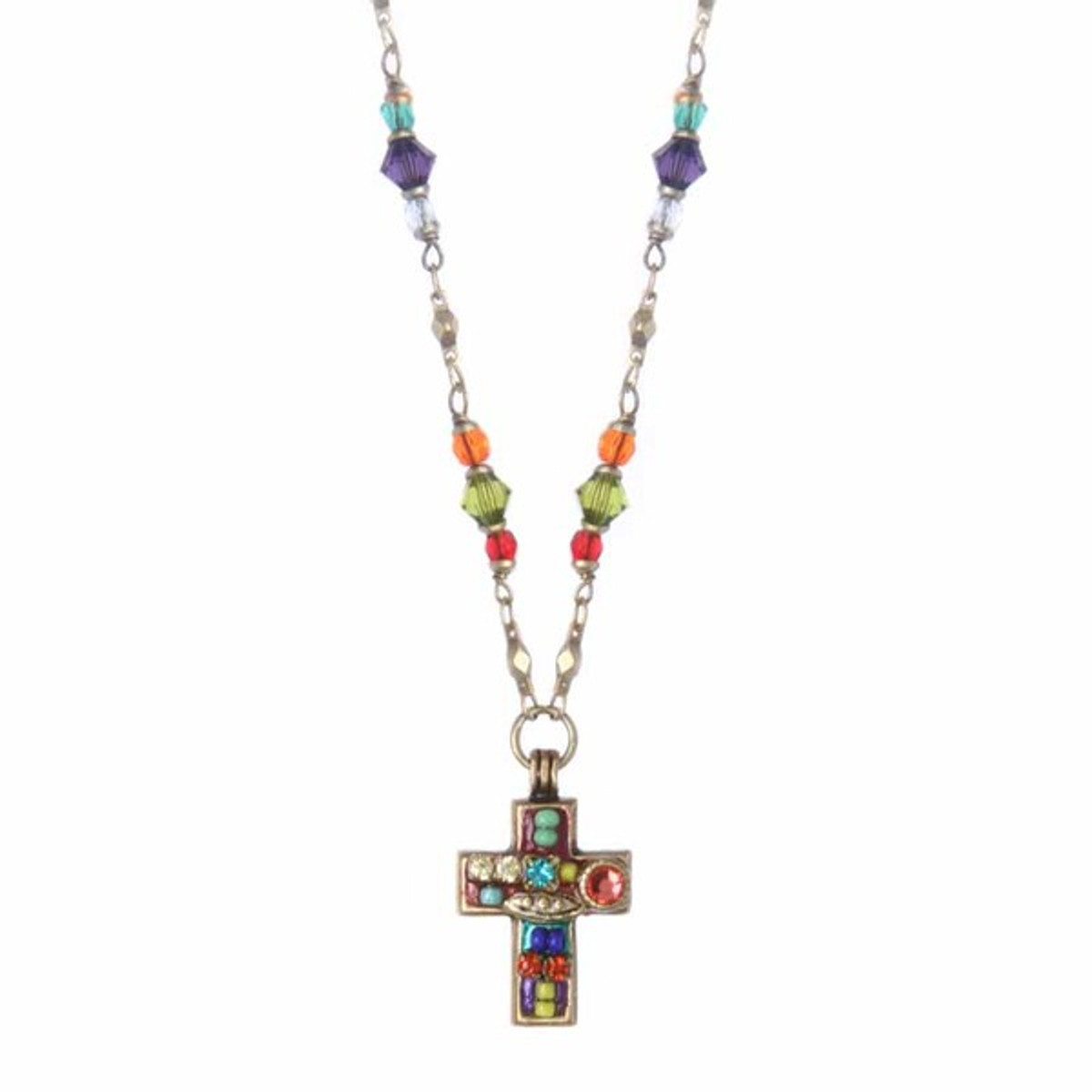 Michal Golan Cross on Beaded Chain