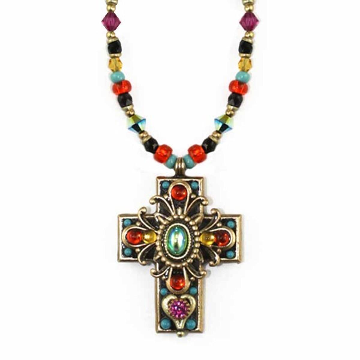 Medium Kaleidoscope Glass Cross