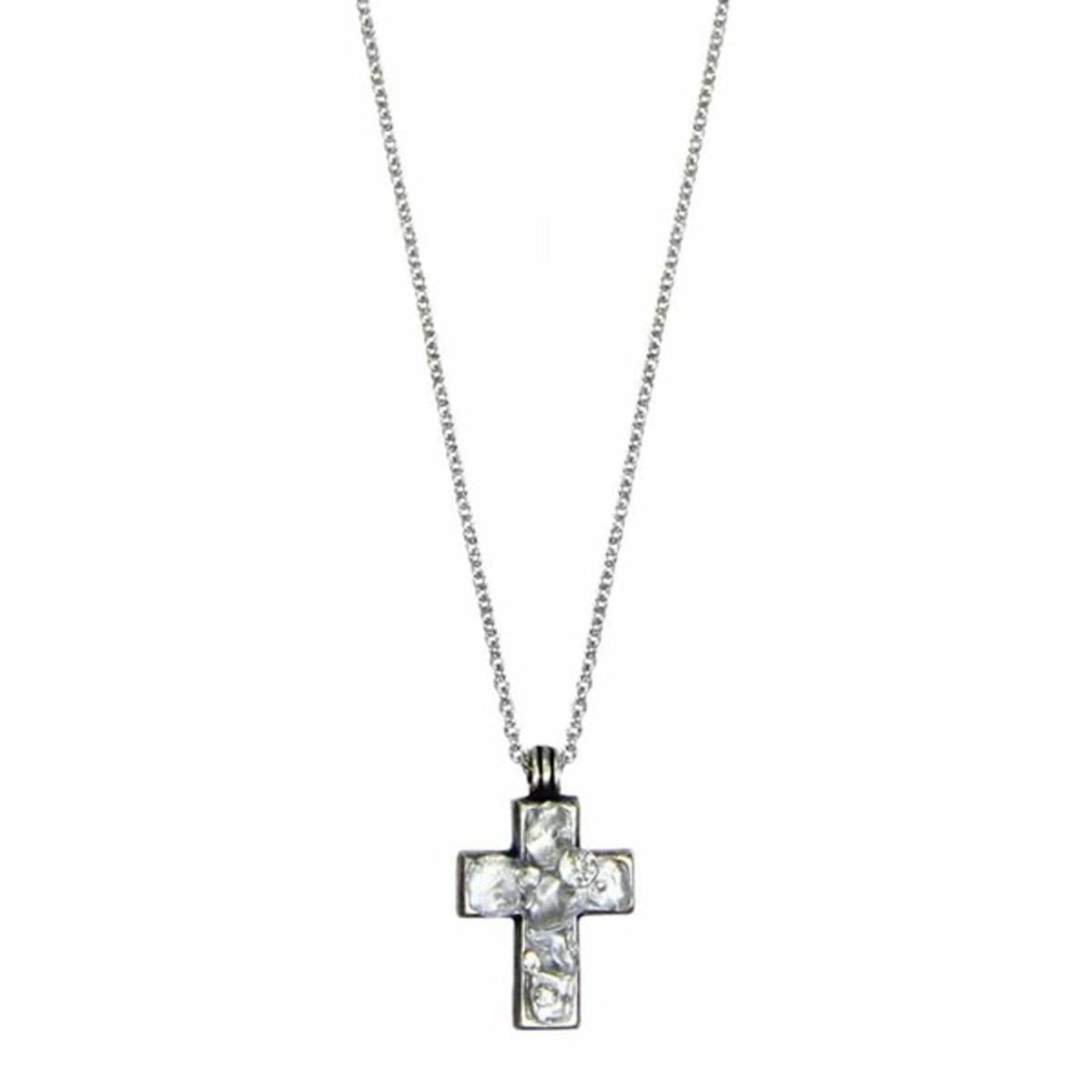 Michal Golan Small Silver Cross Necklace