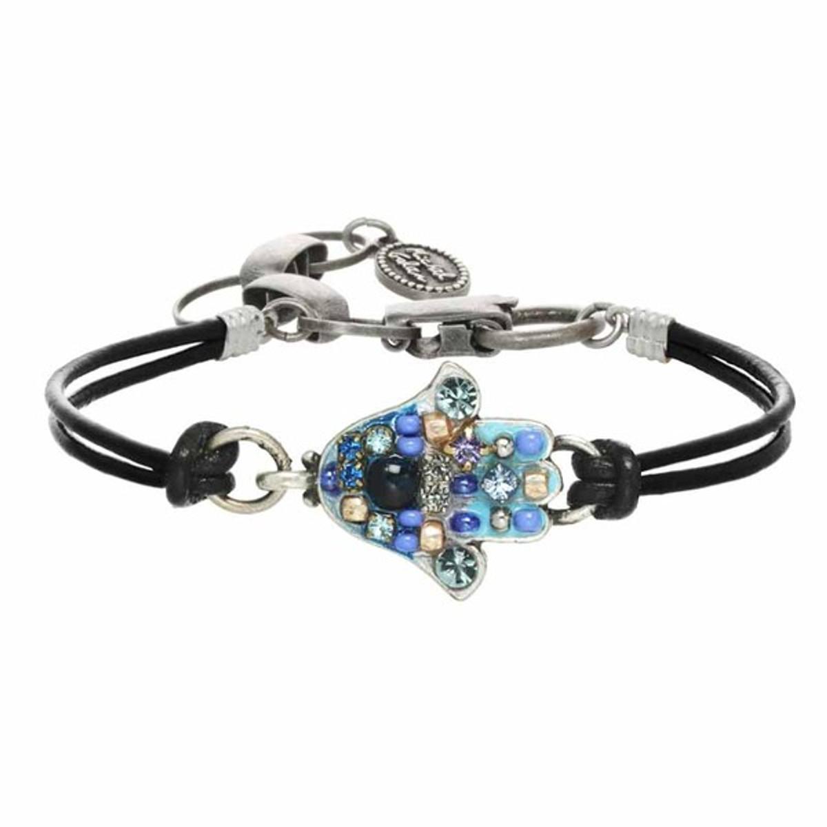 Michal Golan Aqua Blue Hamsa Bracelet