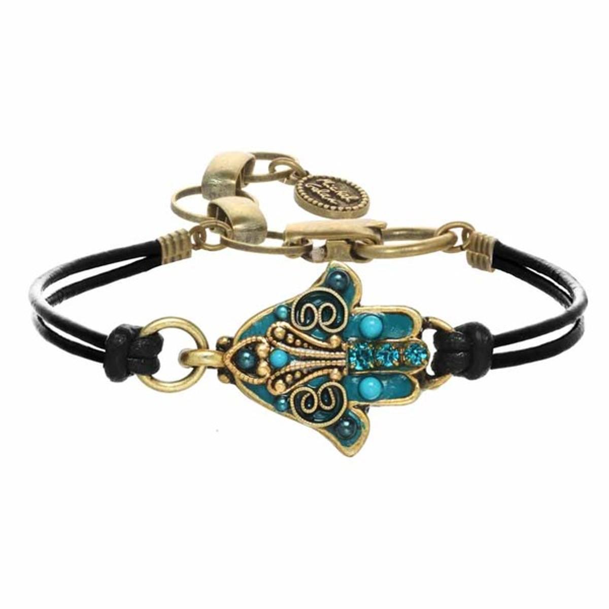 Pale Blue Hamsa Bracelet By Michal Golan