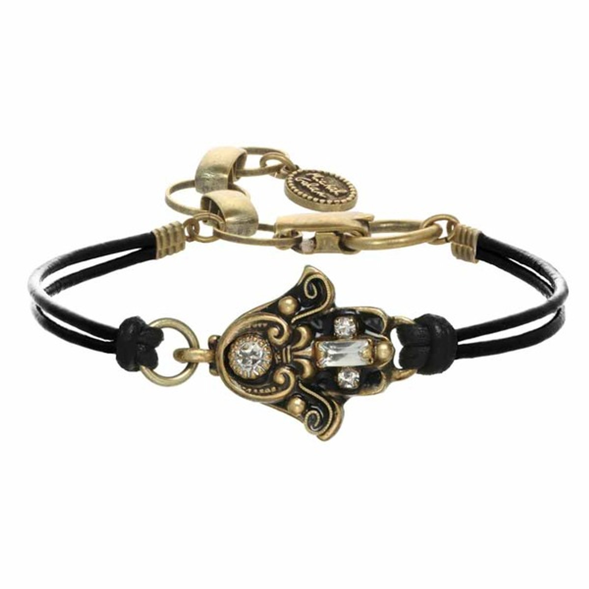Michal Golan Black And Gold Hamsa Bracelet