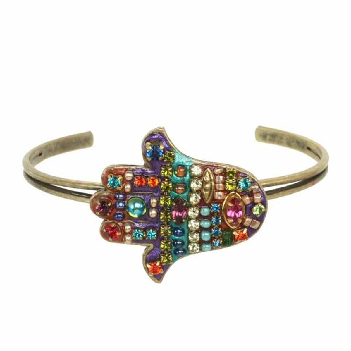 Adjustable Hamsa Cuff Bracelet by Michal Golan