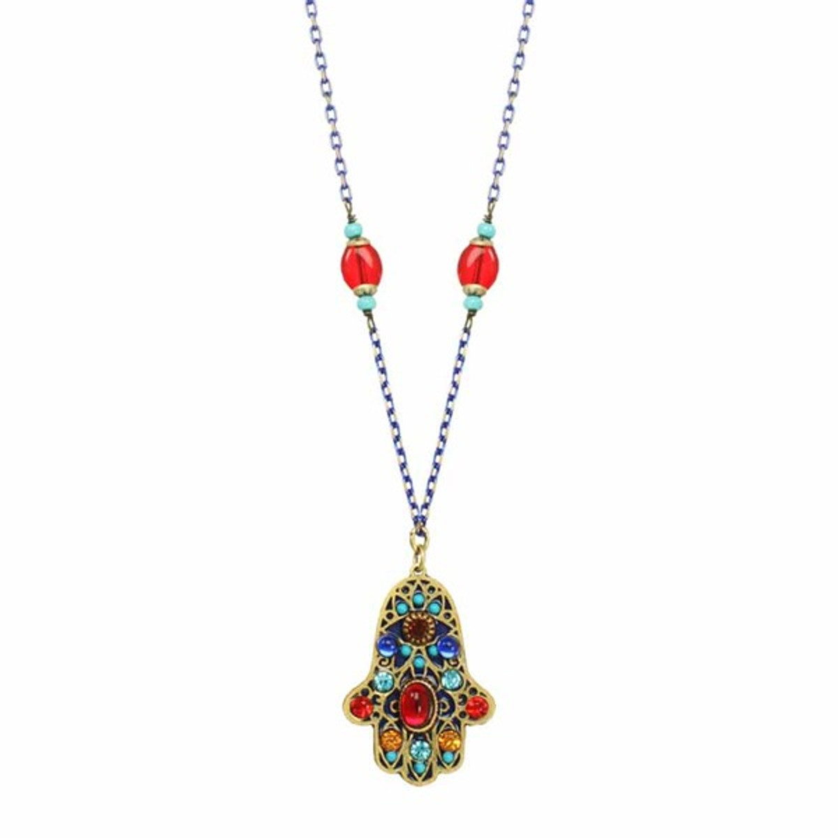 Michal Golan Multicolor Beads Hamsa