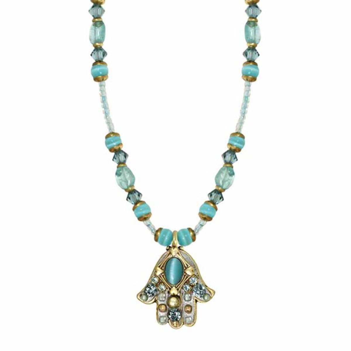 Blue Cat's Eye Hamsa By Golan Jewelry