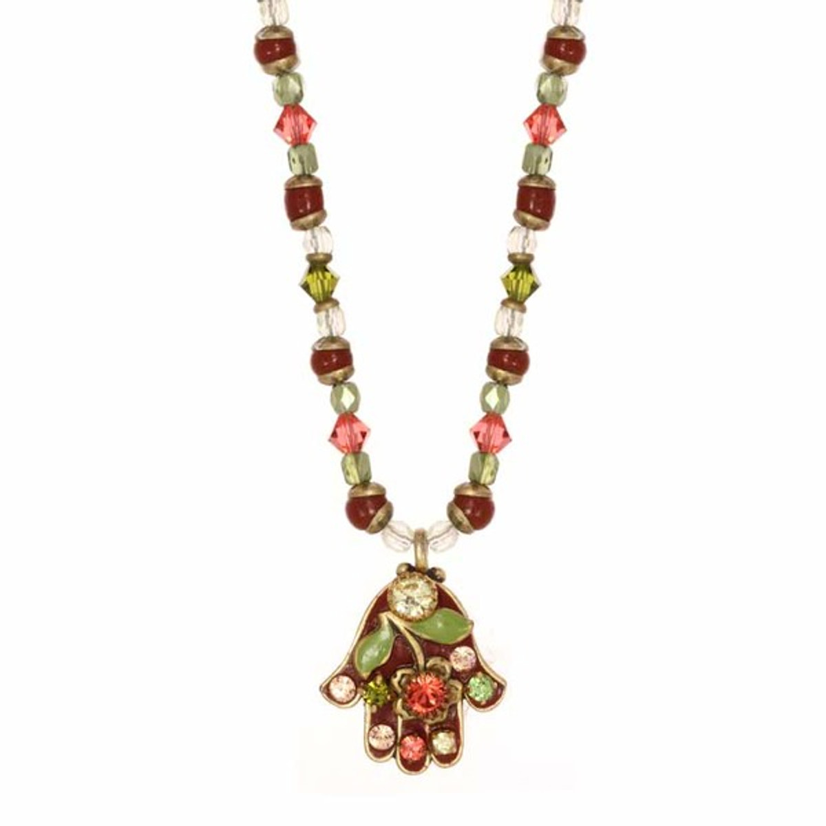 Red Michal Golan Jewelry Hamsa Necklace