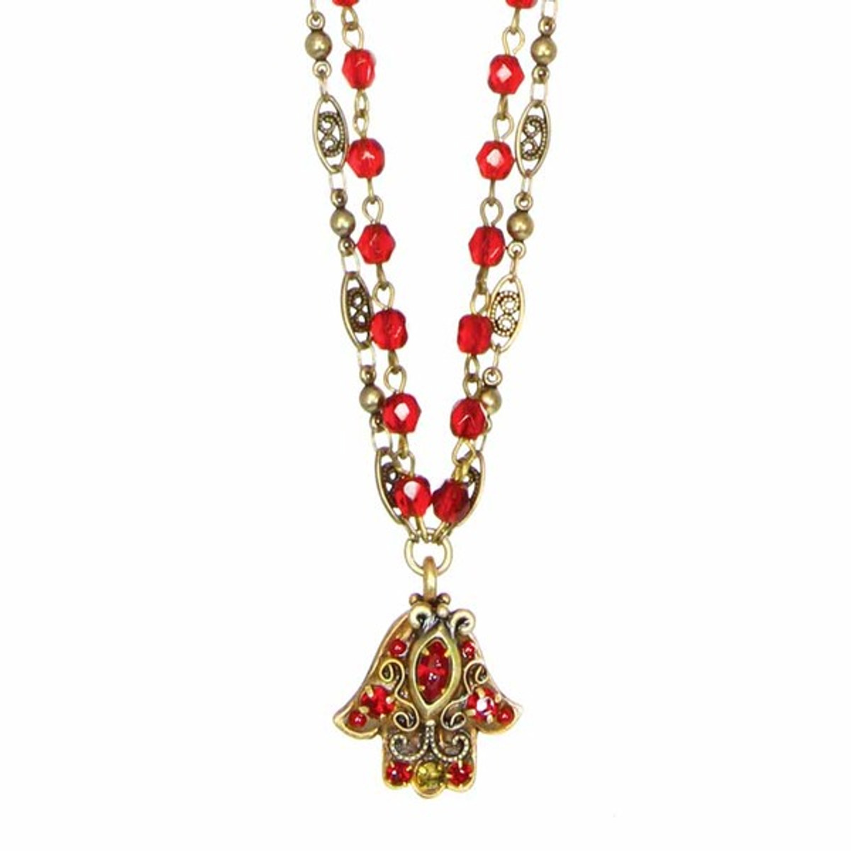 Small Red Hamsa By Golan Jewelry