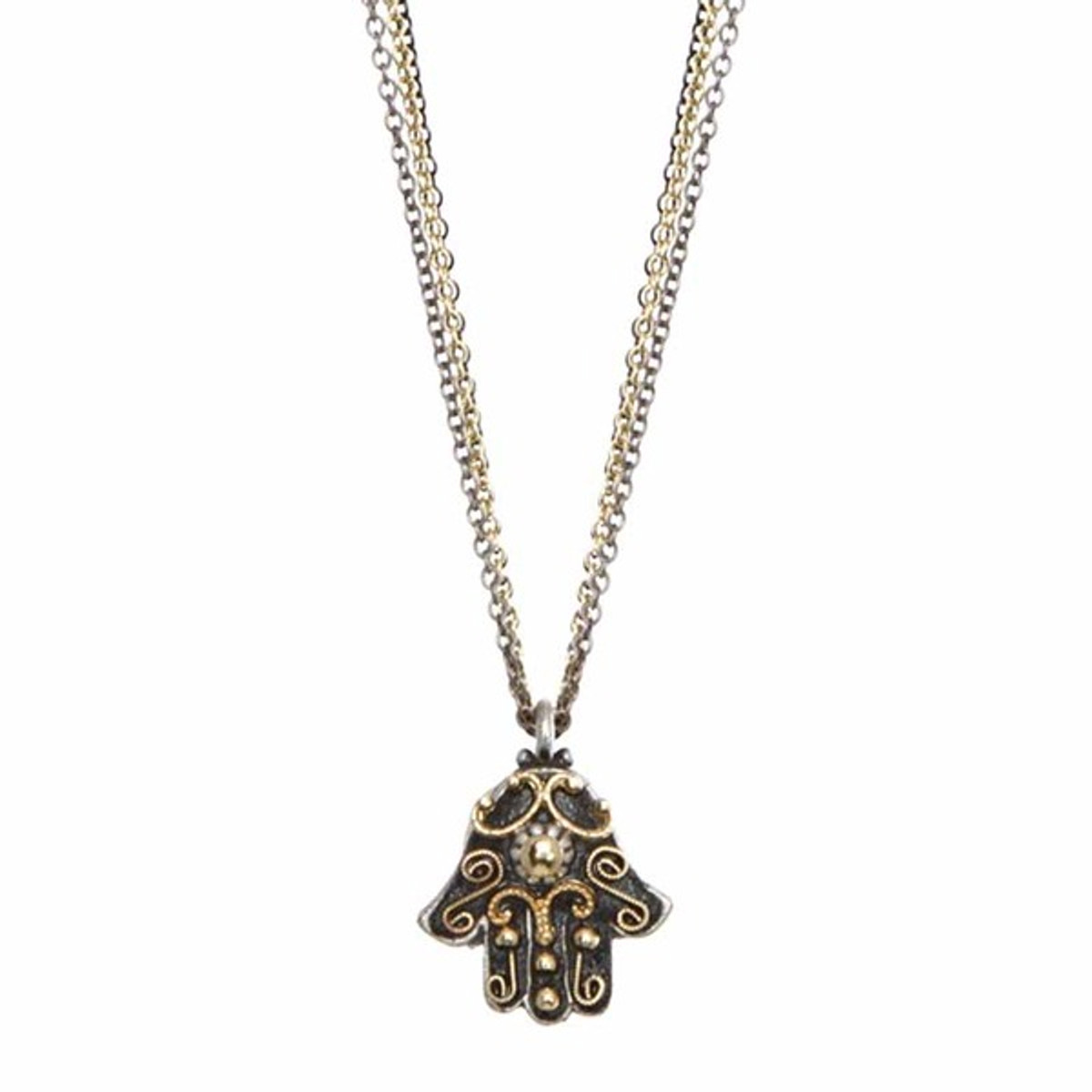 Michal Golan Black and Gold Small Hamsa