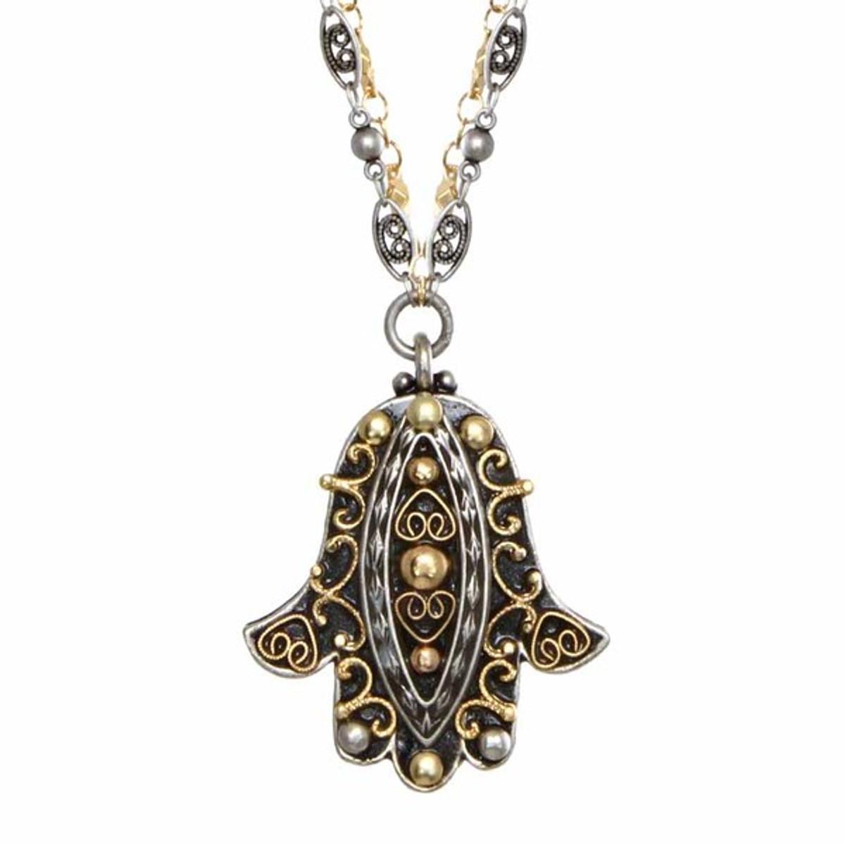 Black Michal Golan Jewelry Hamsa Necklace