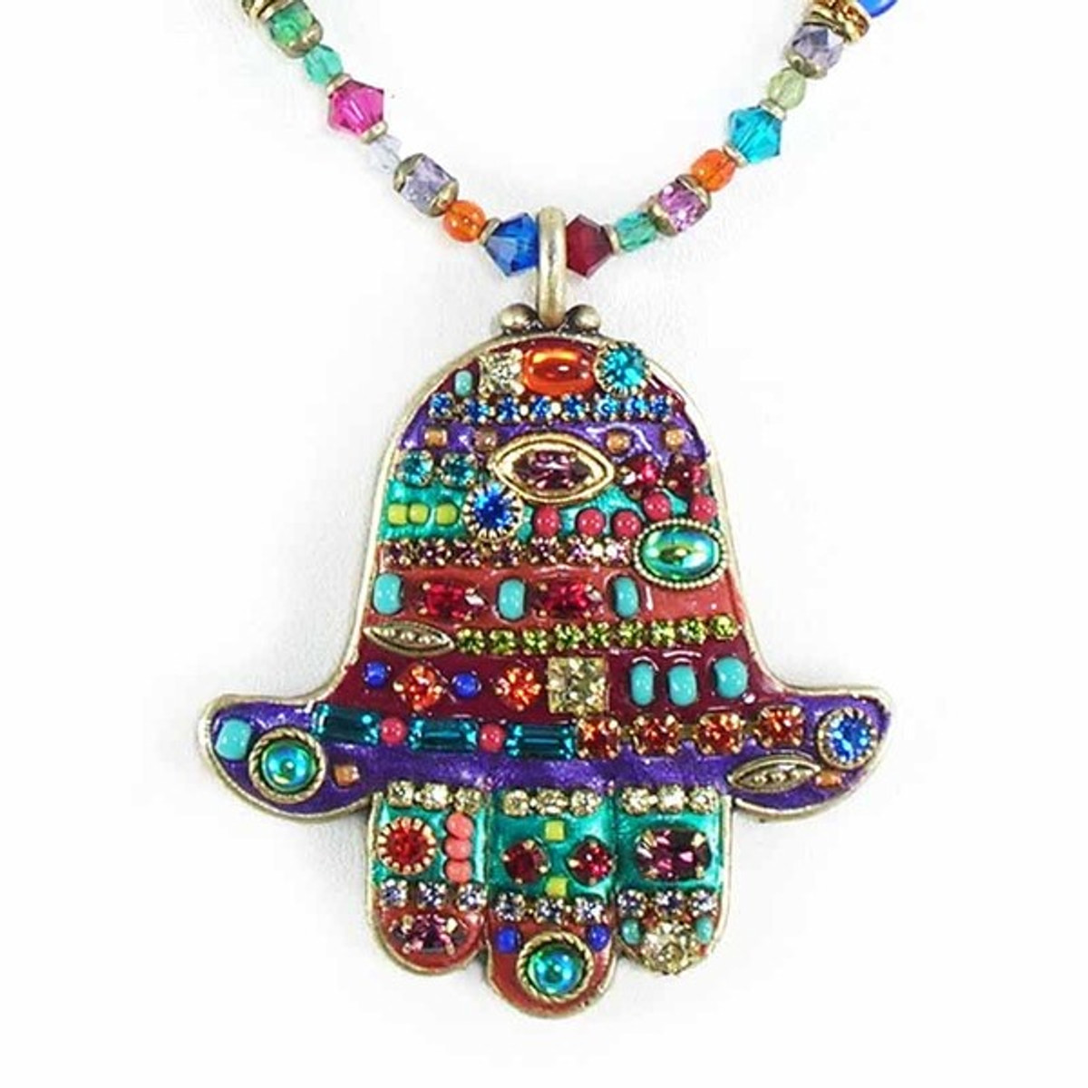 Beaded Chain Multibright Necklace