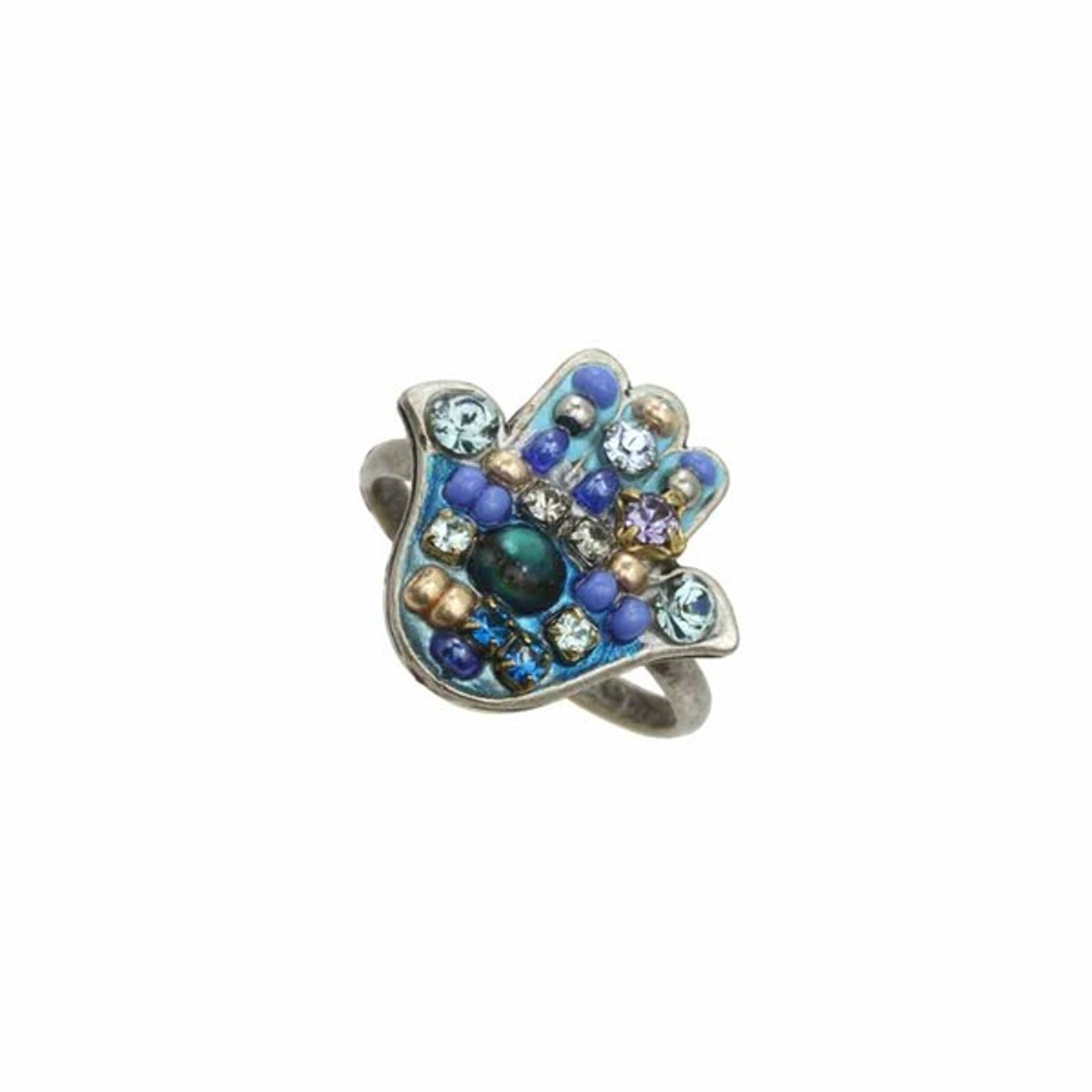 Michal Golan Jewelelry Hamsa Adjustable Ring