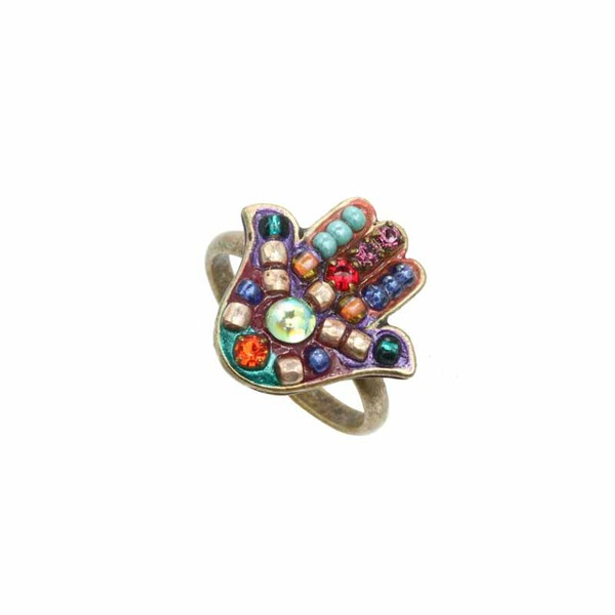 Hamsa adjustable ring from Michal Golan Jewelry