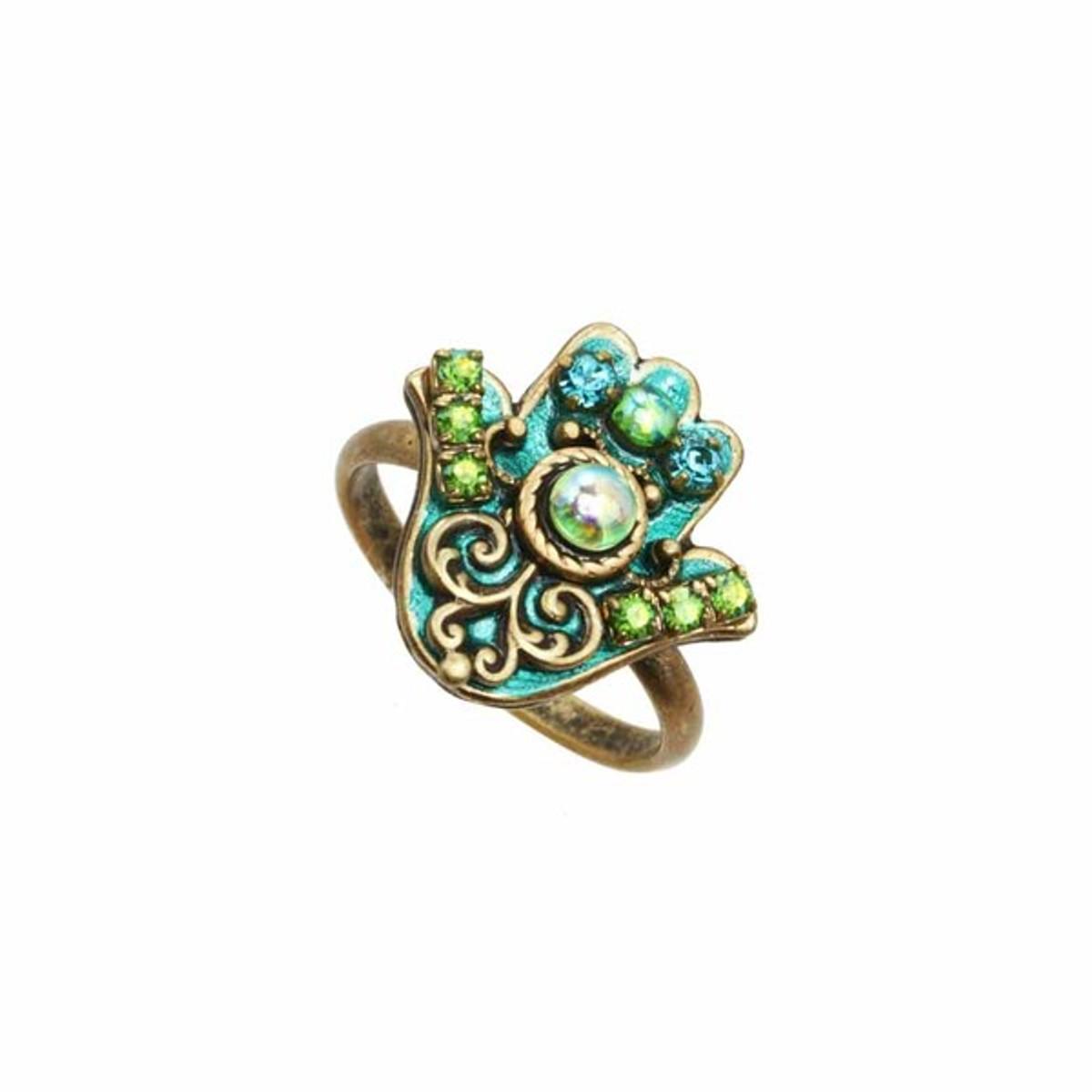 Michal Golan Jewelry Hamsa Adjustable Ring