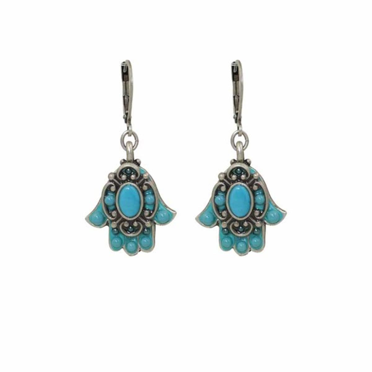 Hamsa earrings from Michal Golan Jewelry