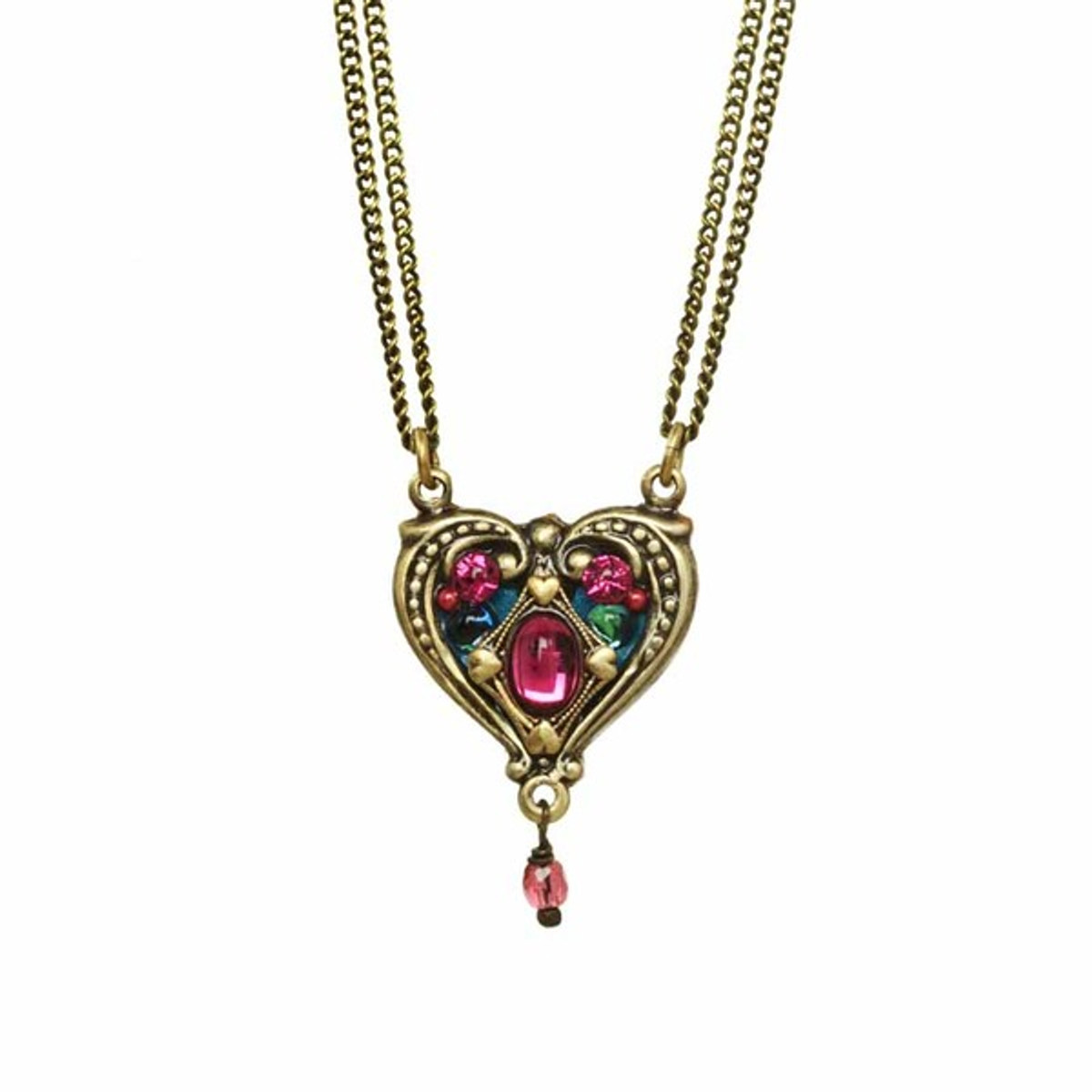 Michal Golan Jewelry Hearts Necklace