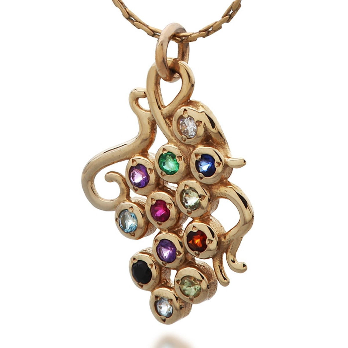 Grapes Hoshen Pendant for Protection and Abundance by Haari
