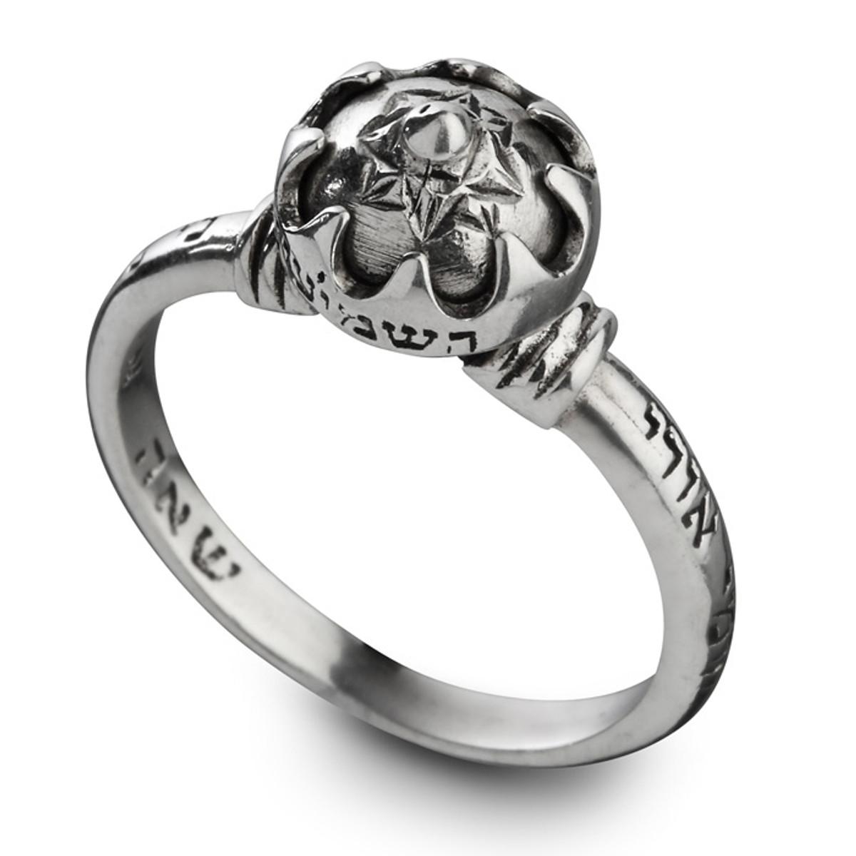 Silver HaShmi'ini Ring by Haari