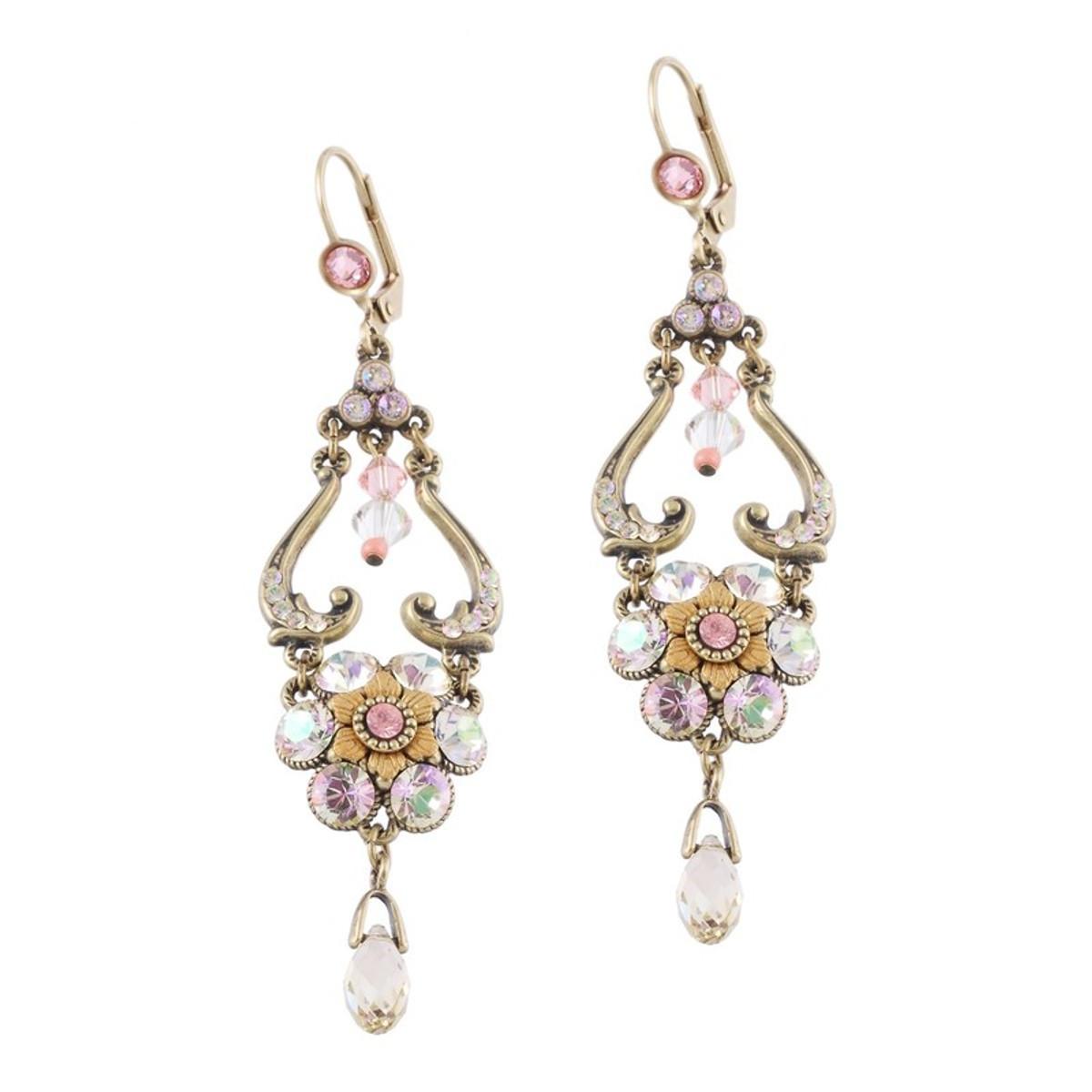 Michal Negrin Purple Crystal Earrings