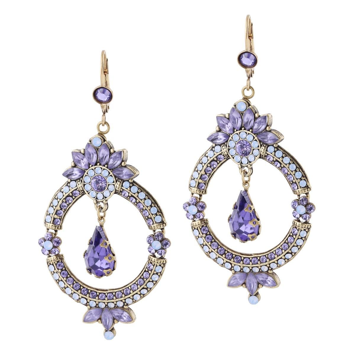 Michal Negrin Love in Lilac Earrings