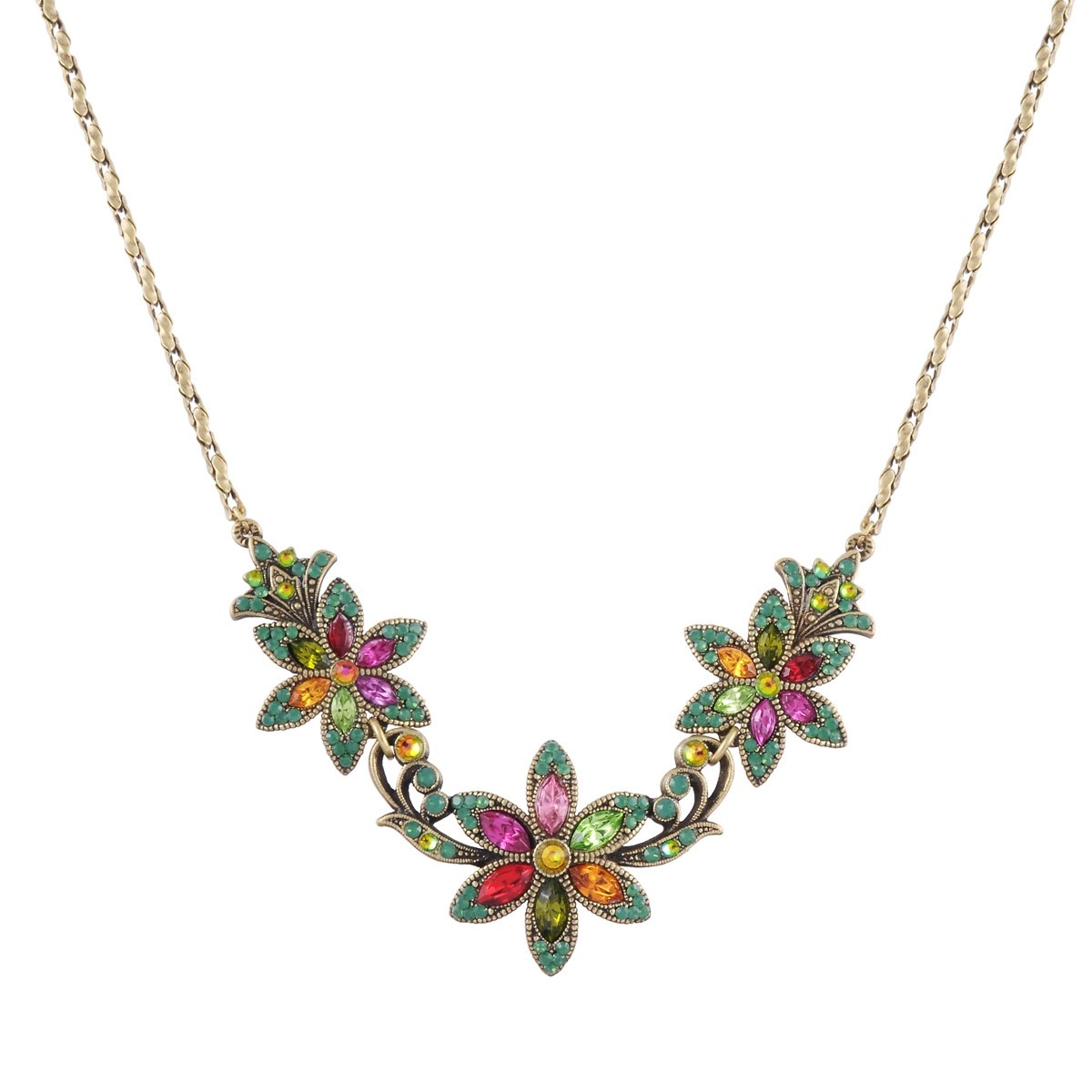 Michal Negrin Multicolored Flower Necklace
