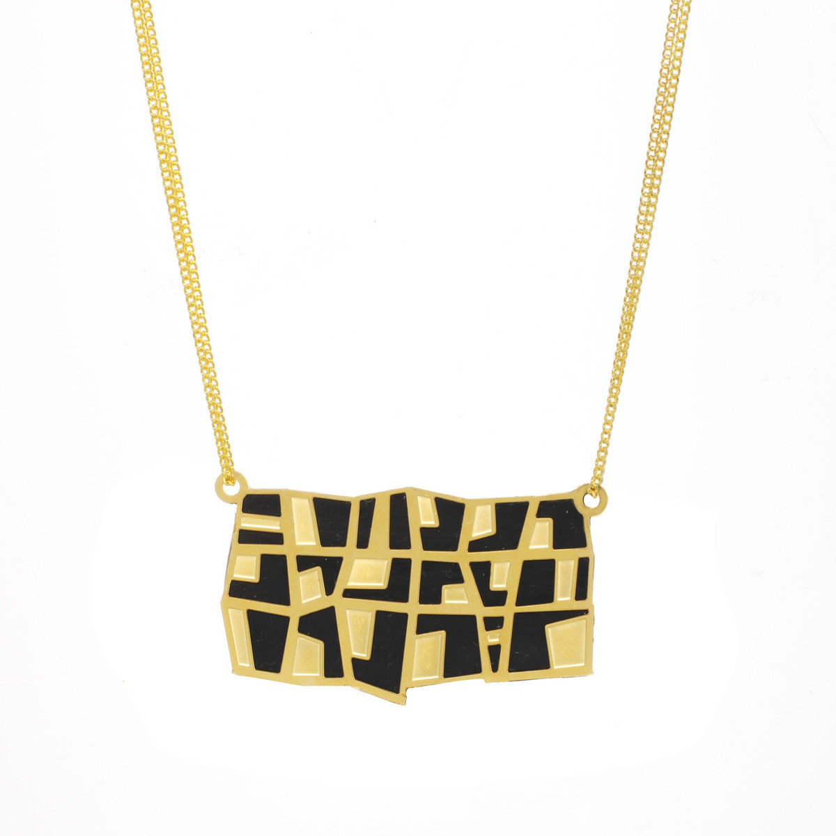 Large Rectangle necklace from Michal Golan Jewelry - One Left
