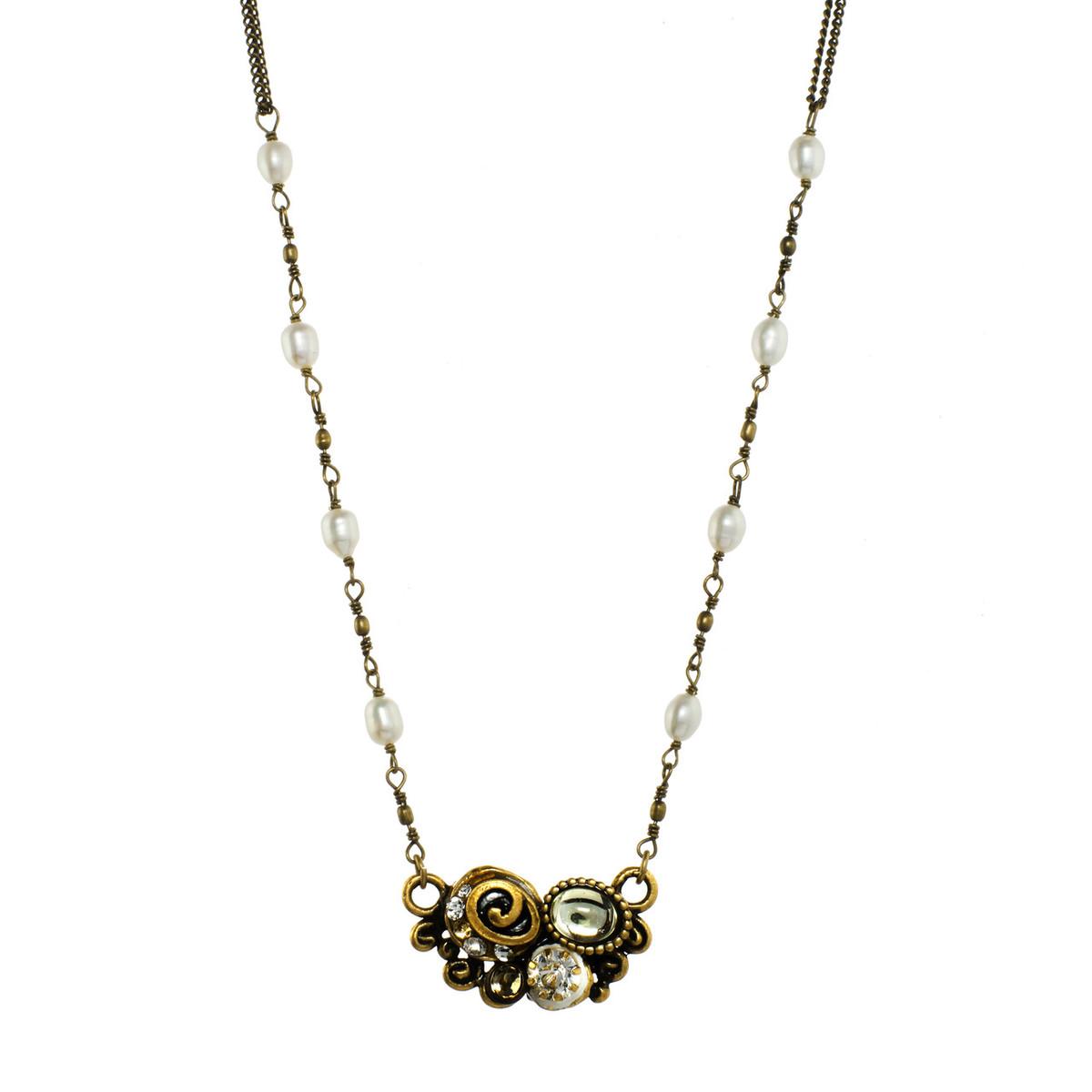 Orange Swirl Pendant necklace from Michal Golan Jewelry