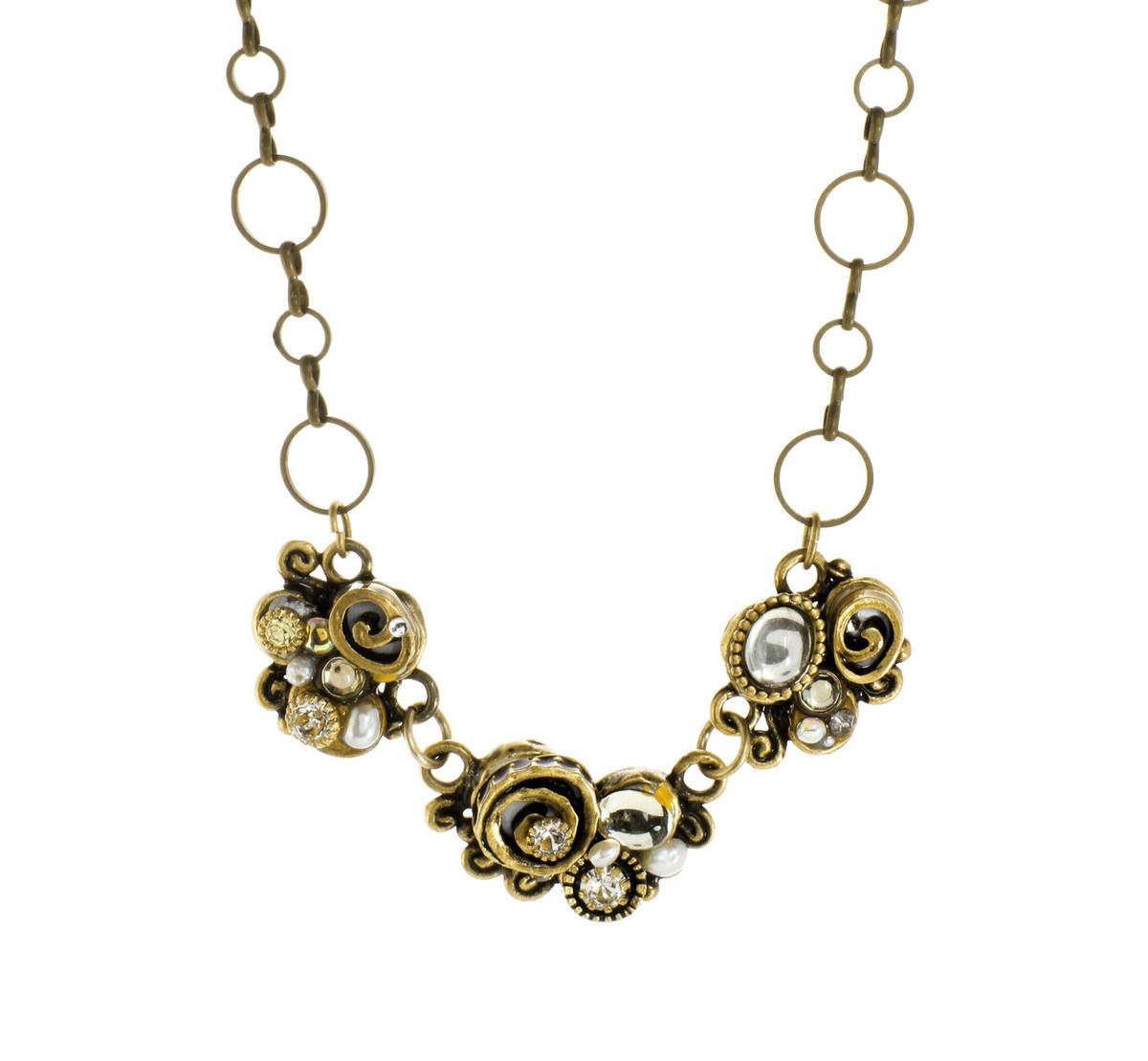 Michal Golan Three Piece Swirl Necklace