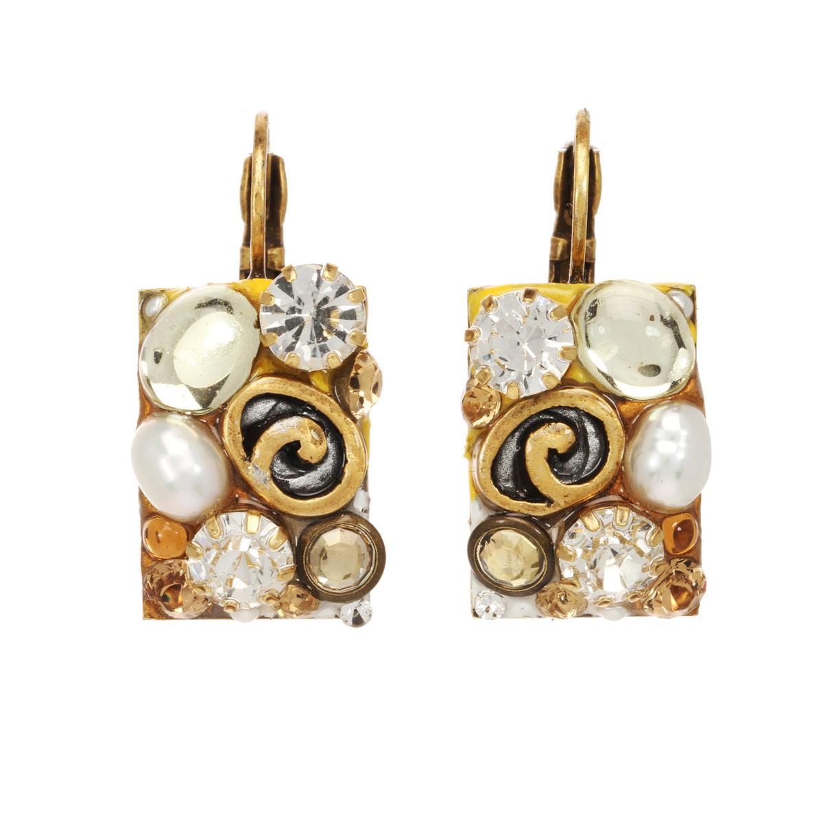 Michal Golan Earth Orange Earrings