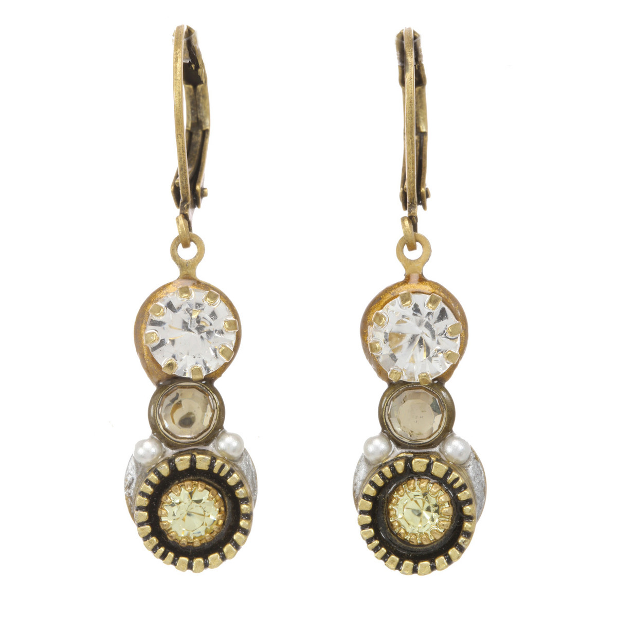 Michal Golan Jewelry Pear Pendant Leverback Orange Earrings