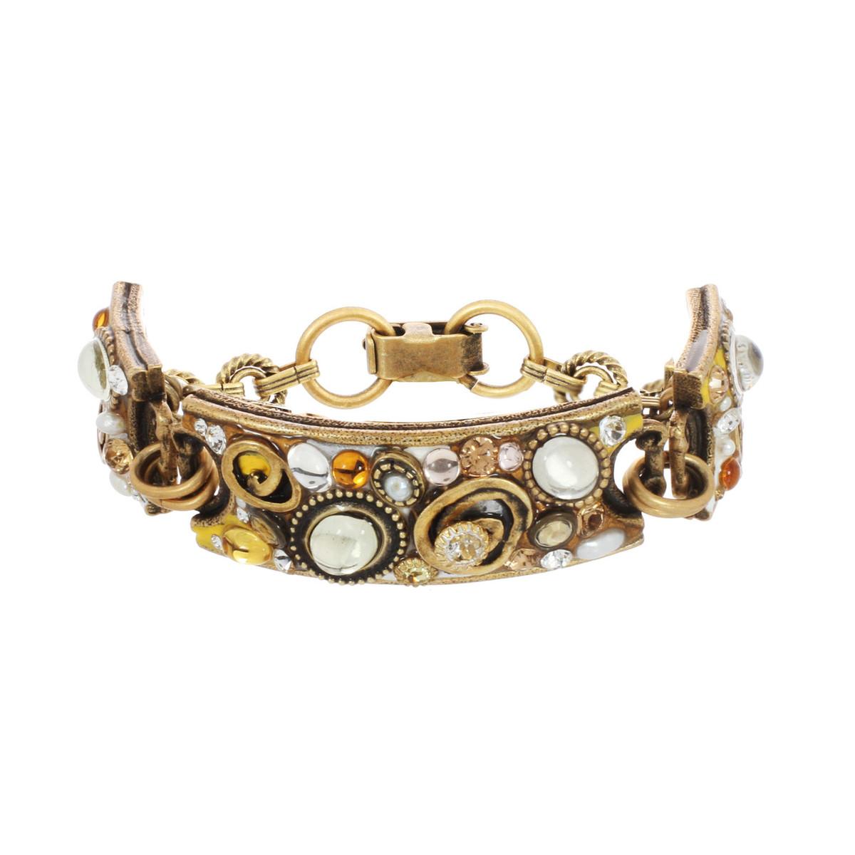 Orange Three Part Rectangular bracelet from Michal Golan Jewelry
