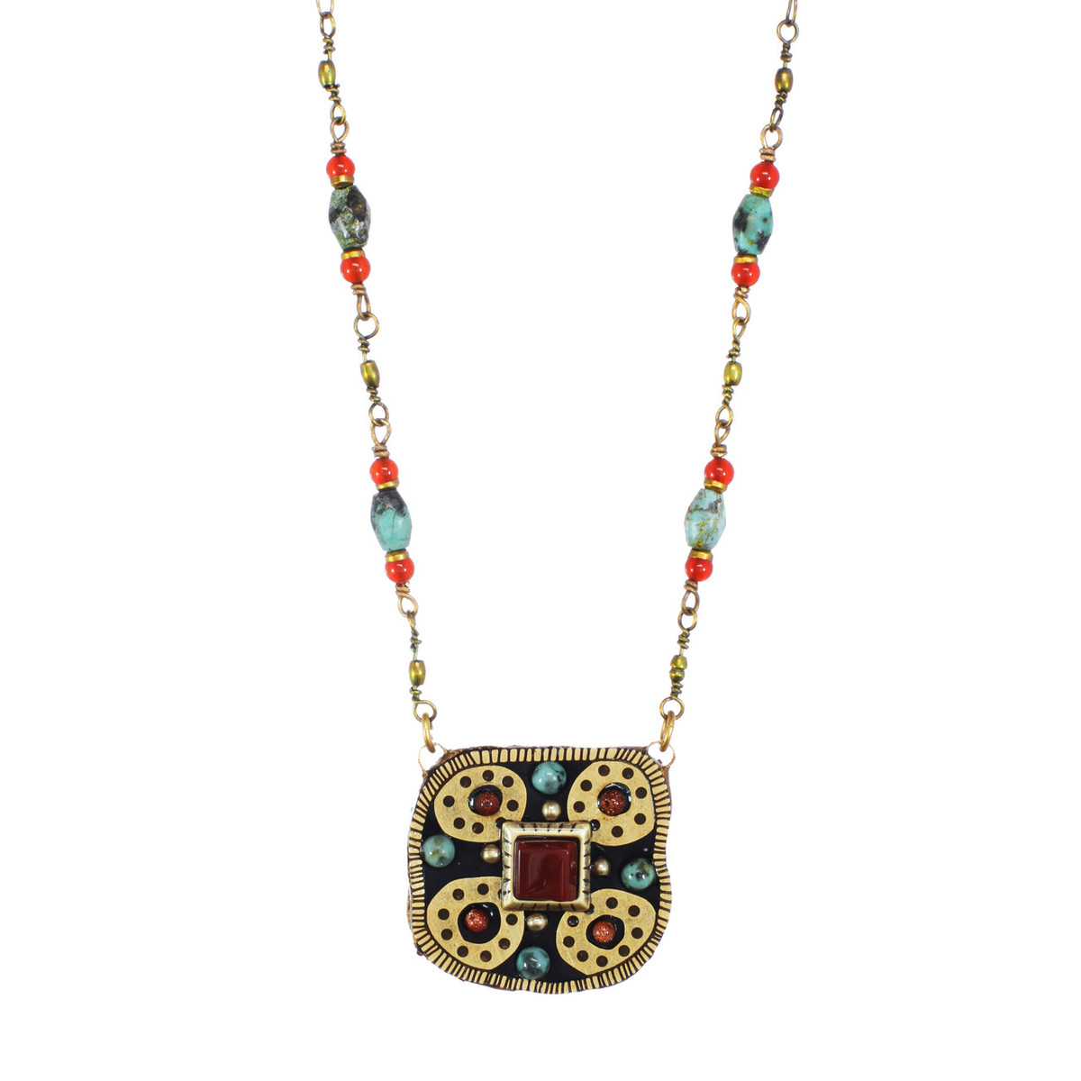 Michal Golan Jewelry Medium Square Necklace