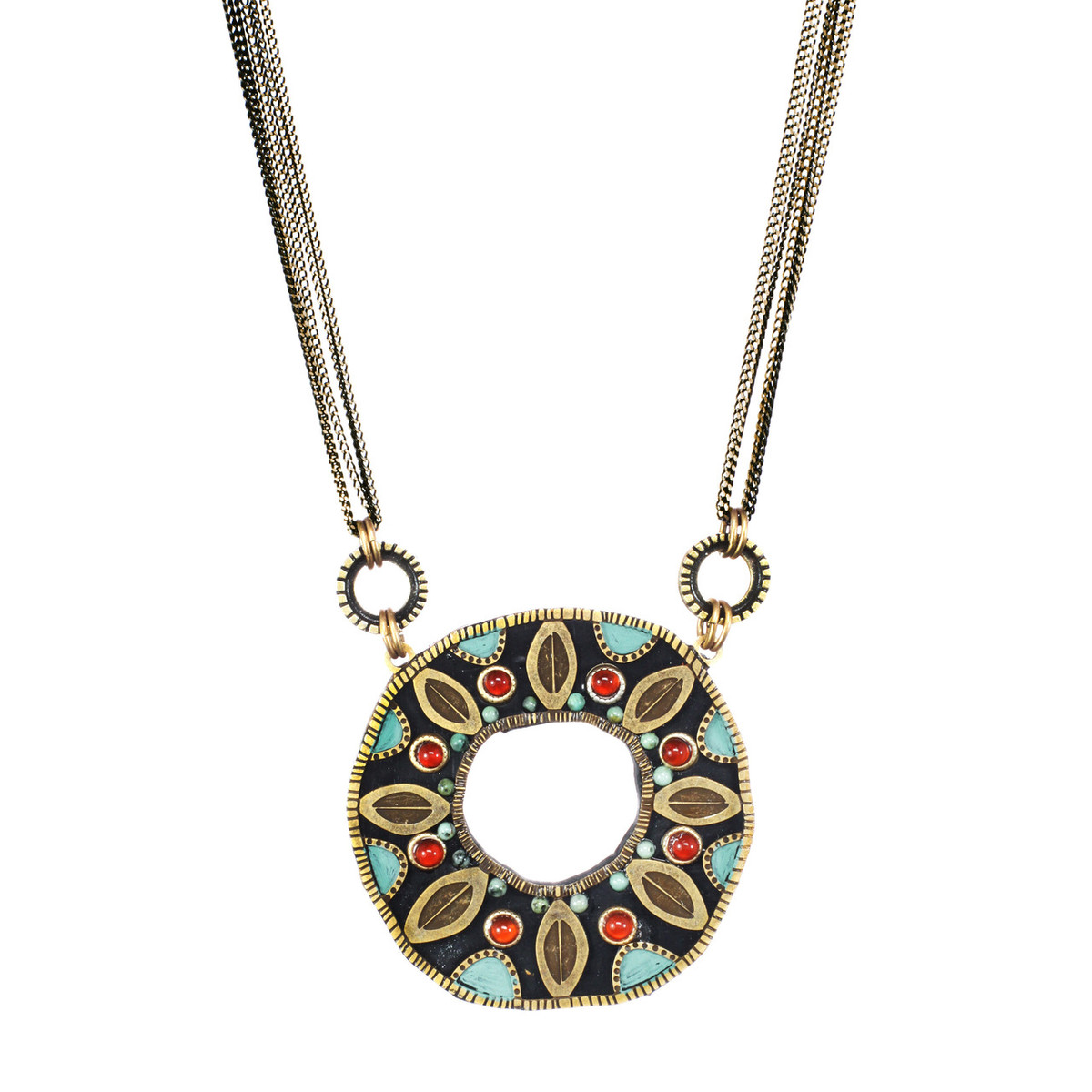 Teal Michal Golan Jewelry Large Open Circle Necklace